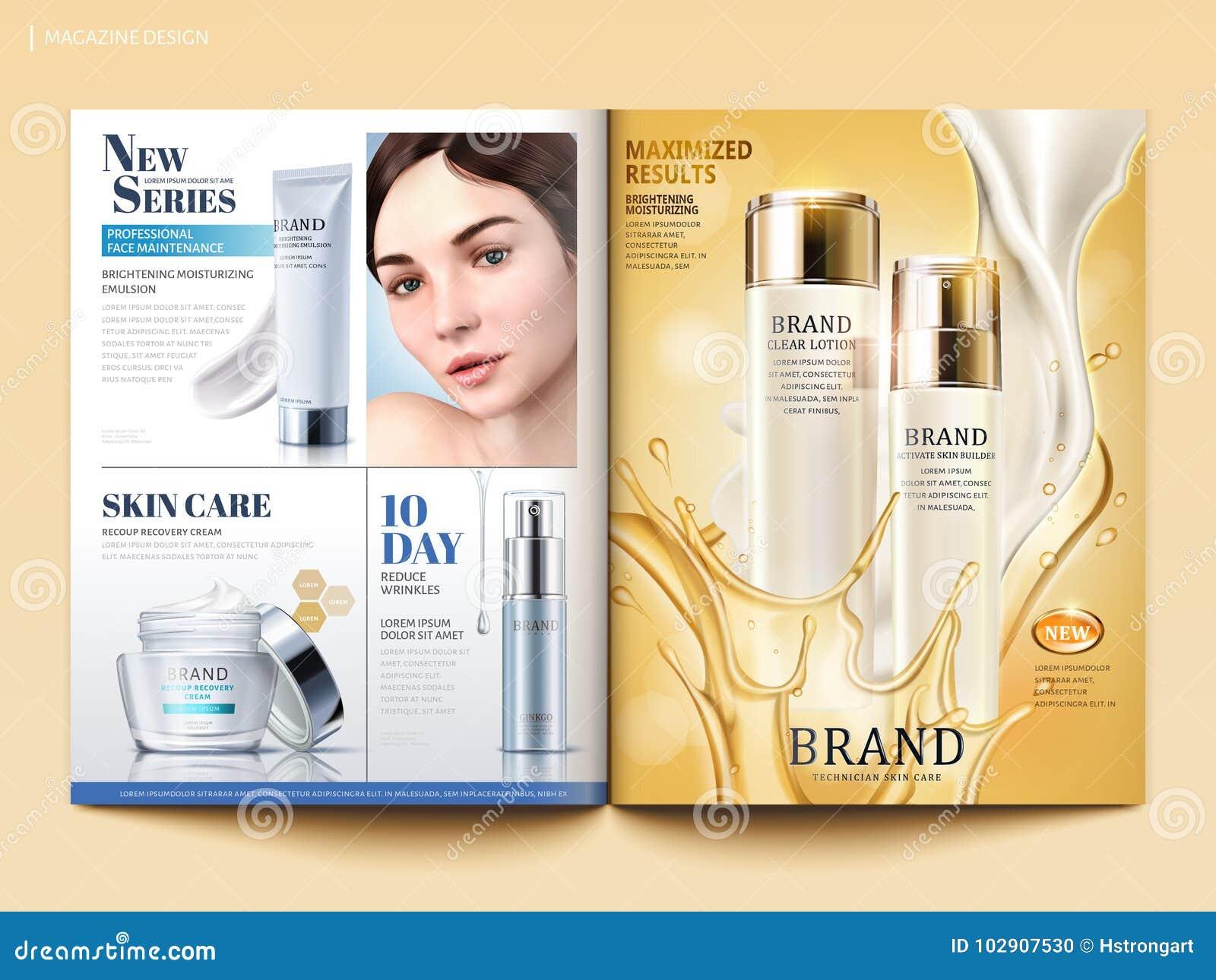 Calibre cosmétique de magazine
