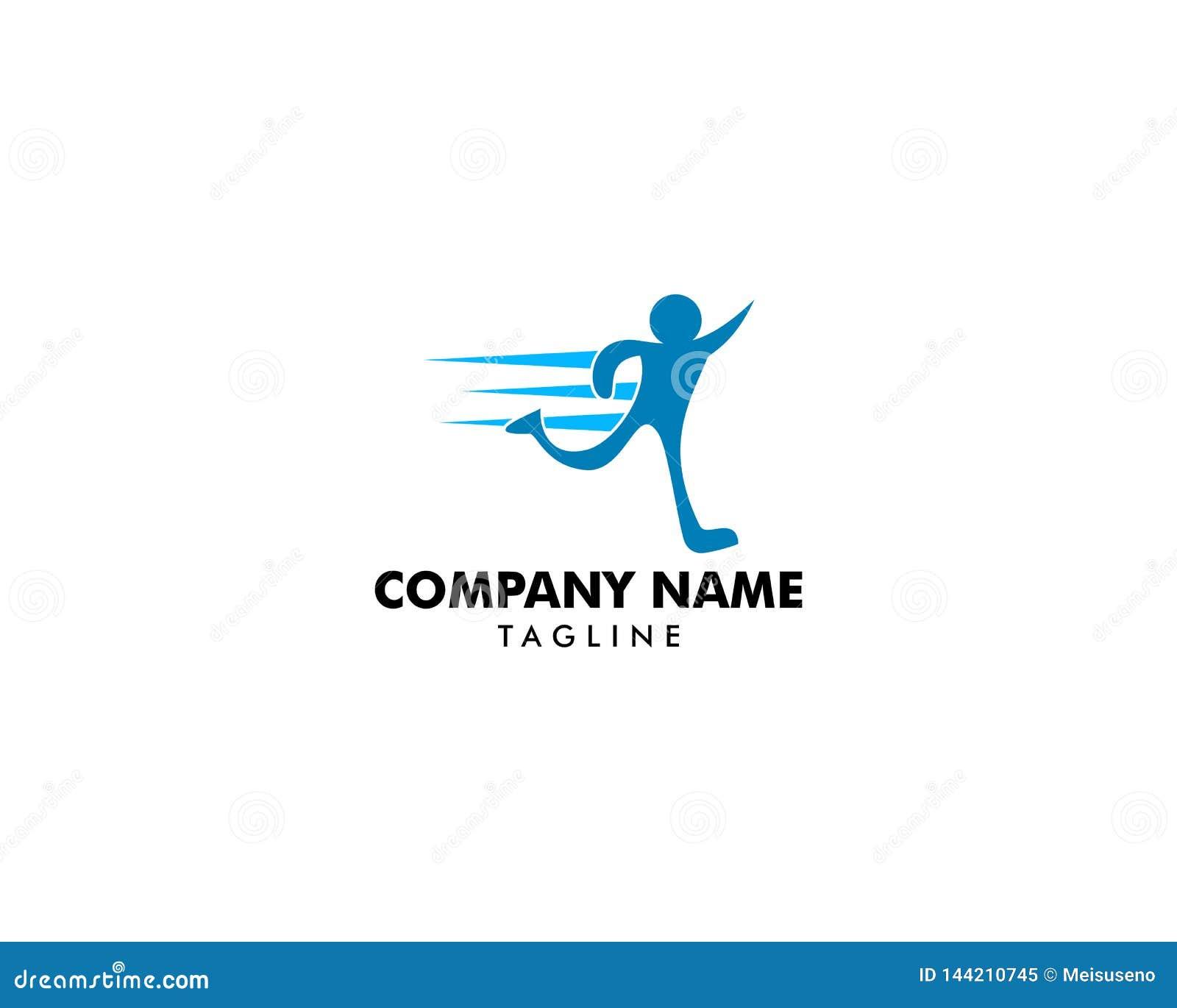 Calibre courant de vecteur de conception de logo de forme physique de sport de la livraison d abrégé sur homme