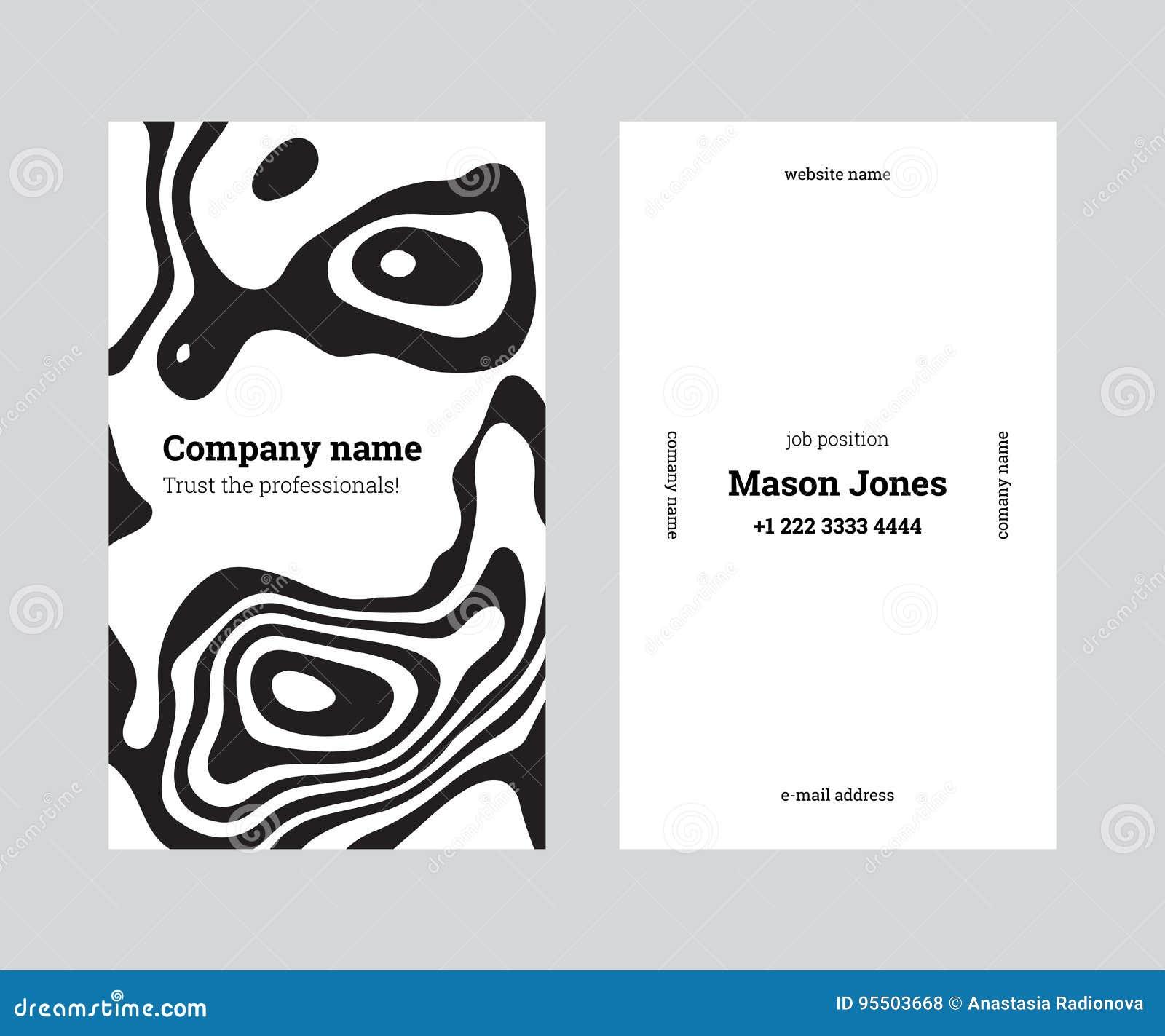 Calibre Cratif Blanc Et Noir De Carte Visite Professionnelle