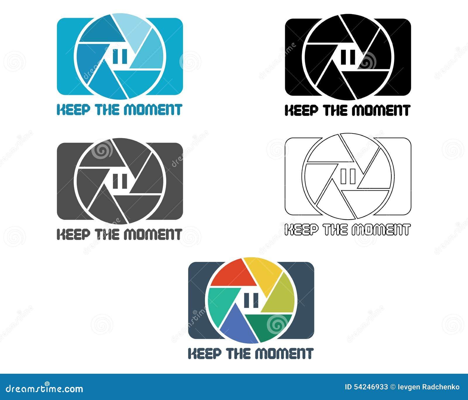 Calibre d icône de volet ou de conception de logo Appareil-photo et