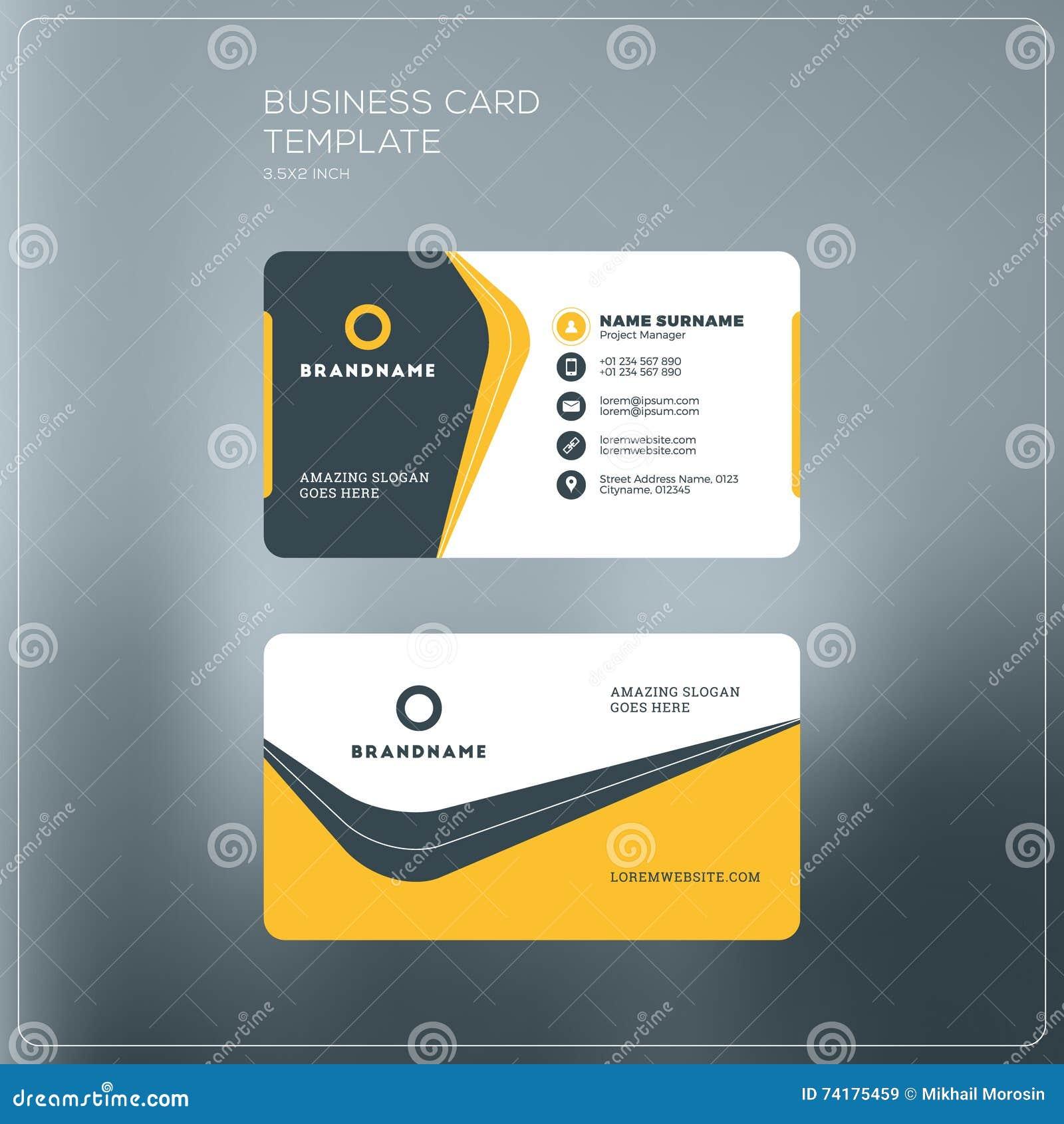 Calibre D Impression De Carte Entreprise Constituee En Societe Visite Personnelle