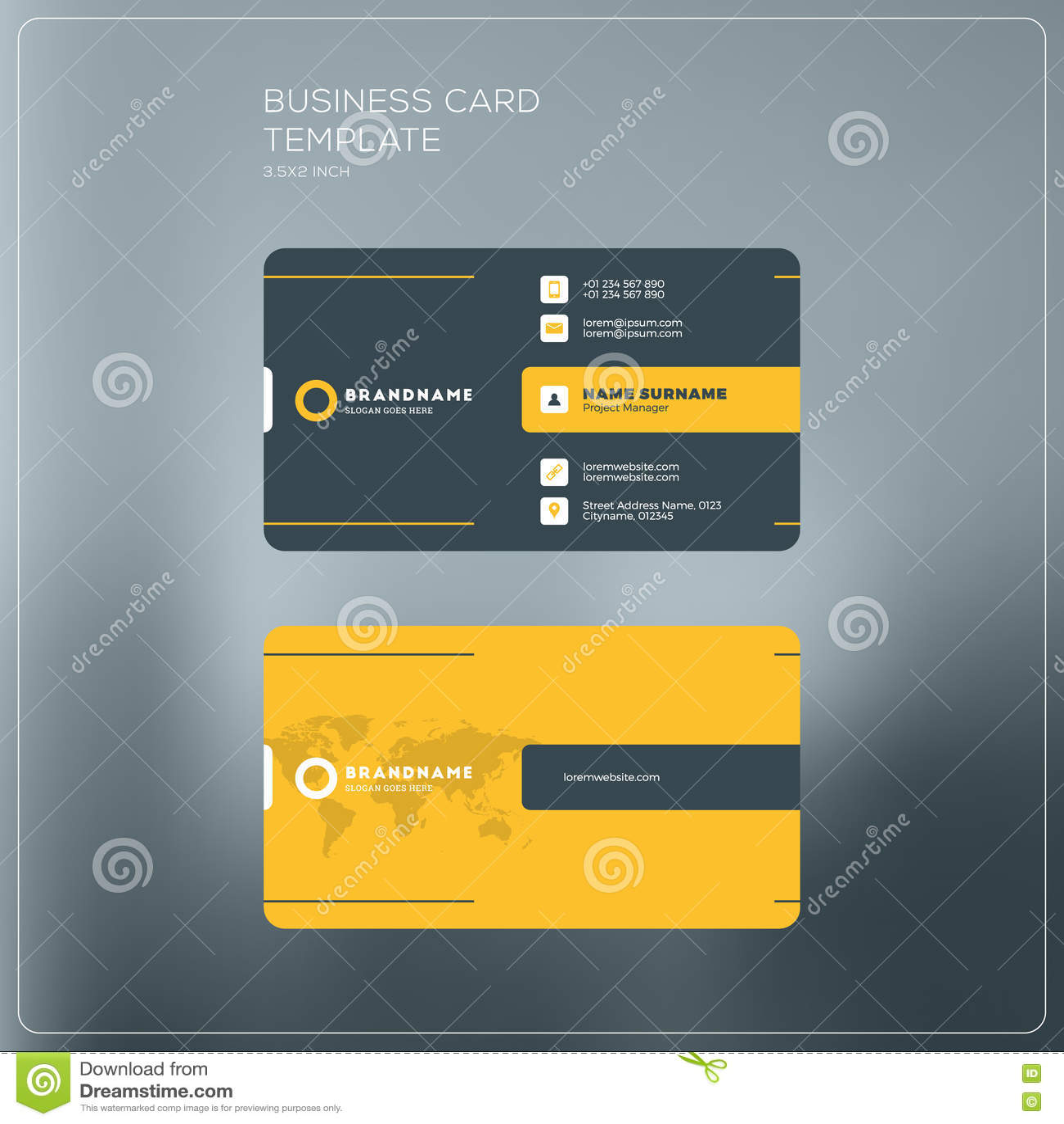 Calibre D Impression De Carte Entreprise Constitue En Socit Visite Personnelle W