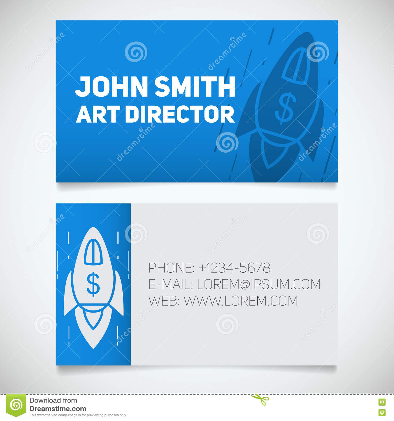 Calibre Dimpression De Carte Visite Professionnelle Directeur Artistique Spaceship Logo Daccomplissement But Concept Construction