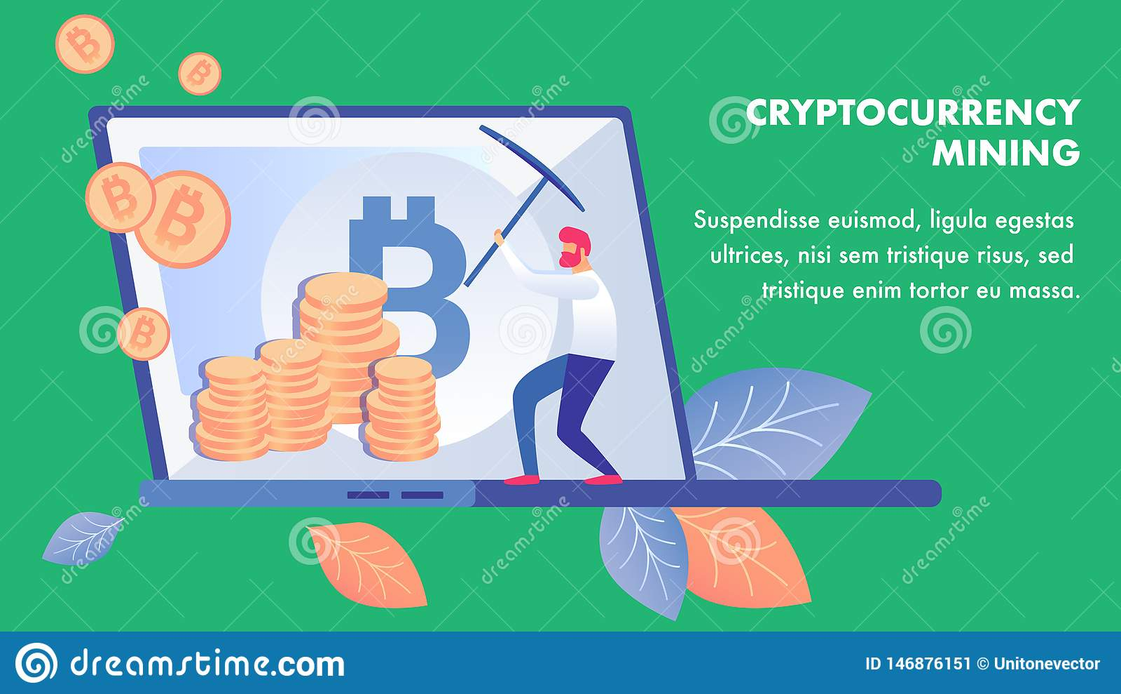 Calibre de banni?re d affaires d exploitation de Cryptocurrency