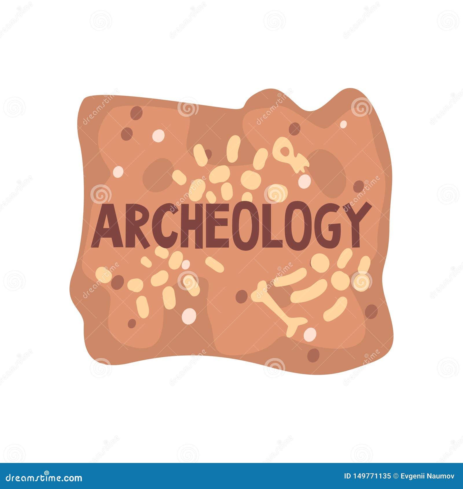 Calibre de bannière d affiche de la Science d archéologie, paléontologie et illustration de vecteur d histoire