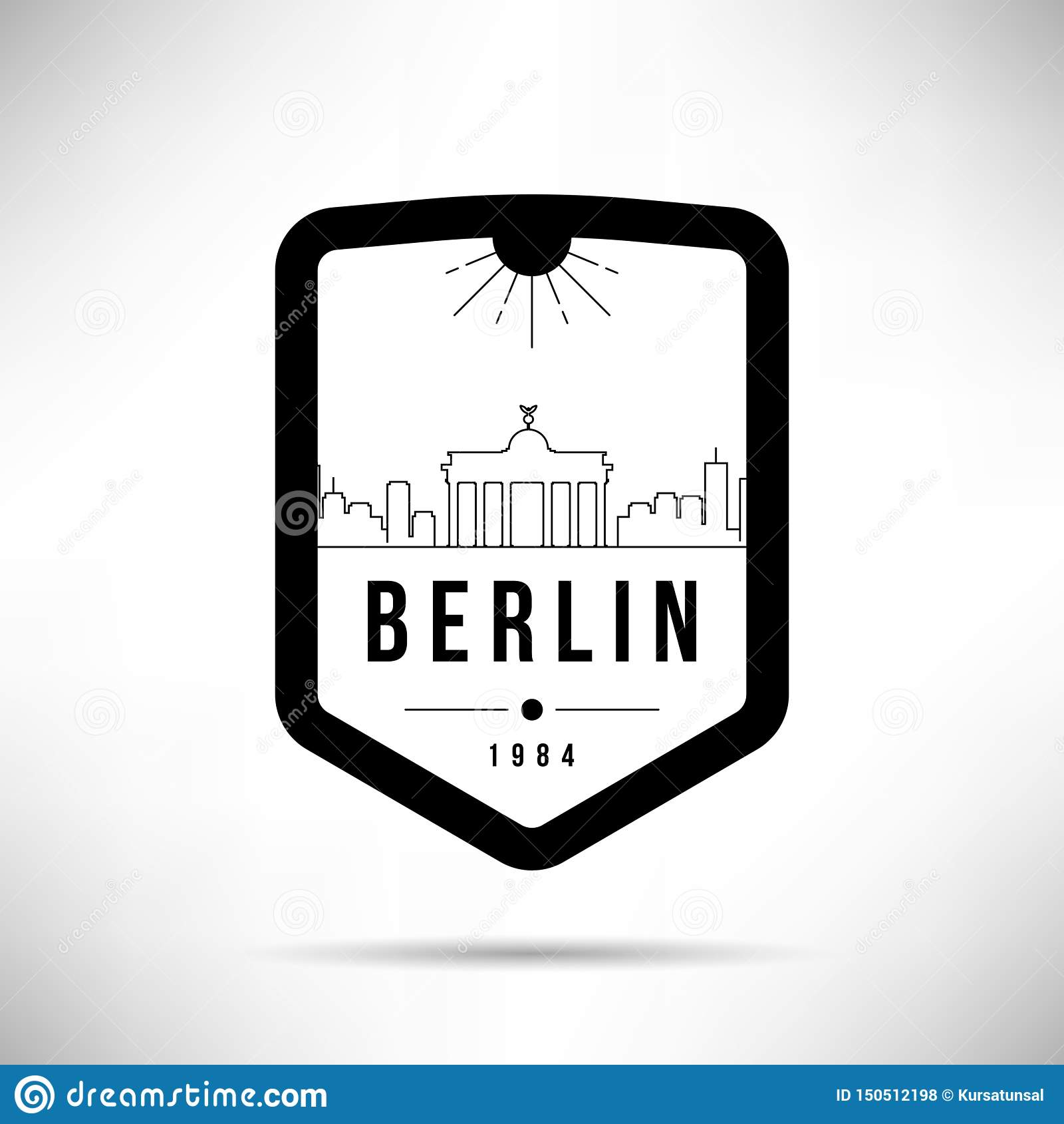 Calibre de Berlin City Modern Skyline Vector