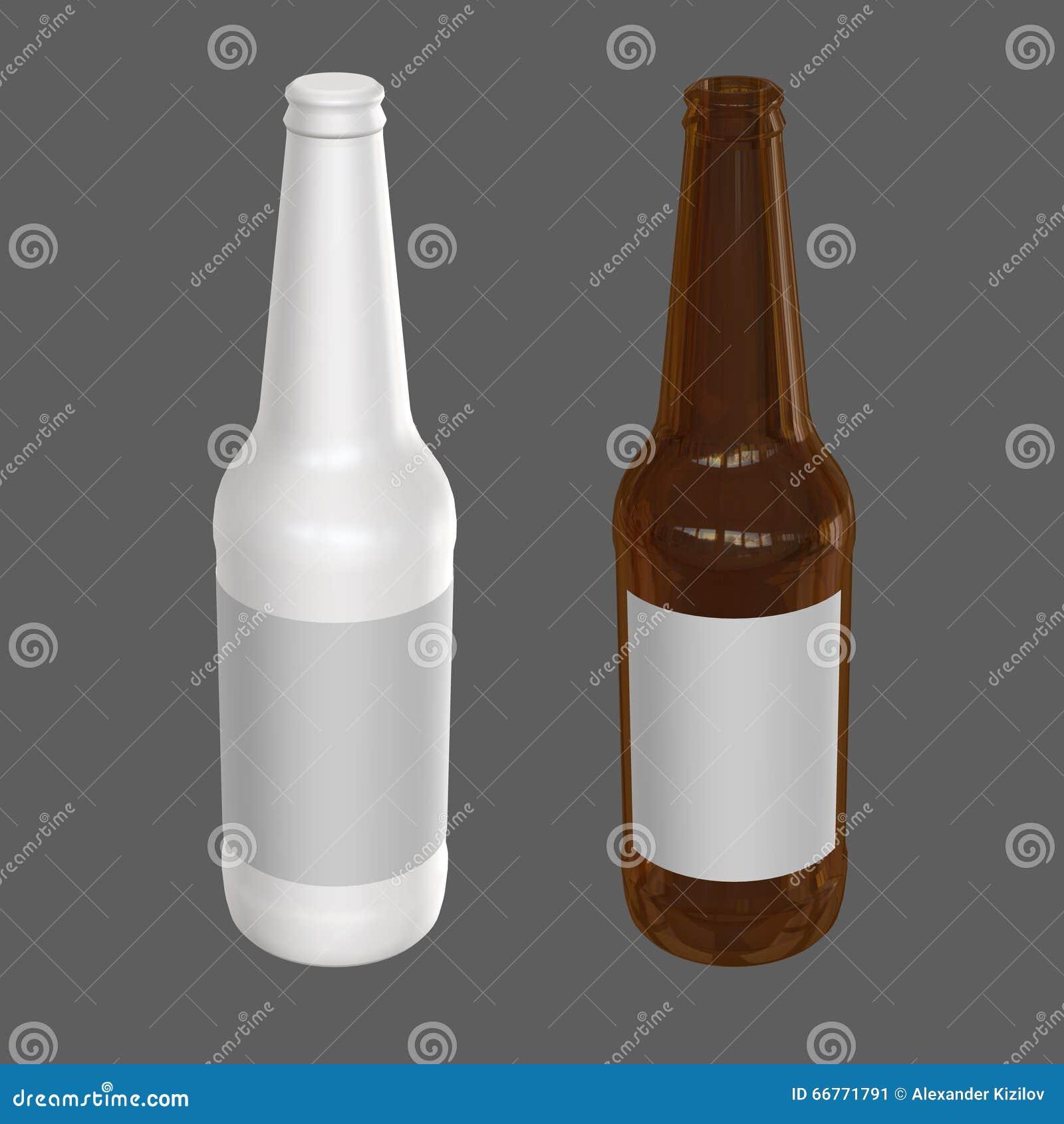 Calibre de bouteille à bière 3d rendent