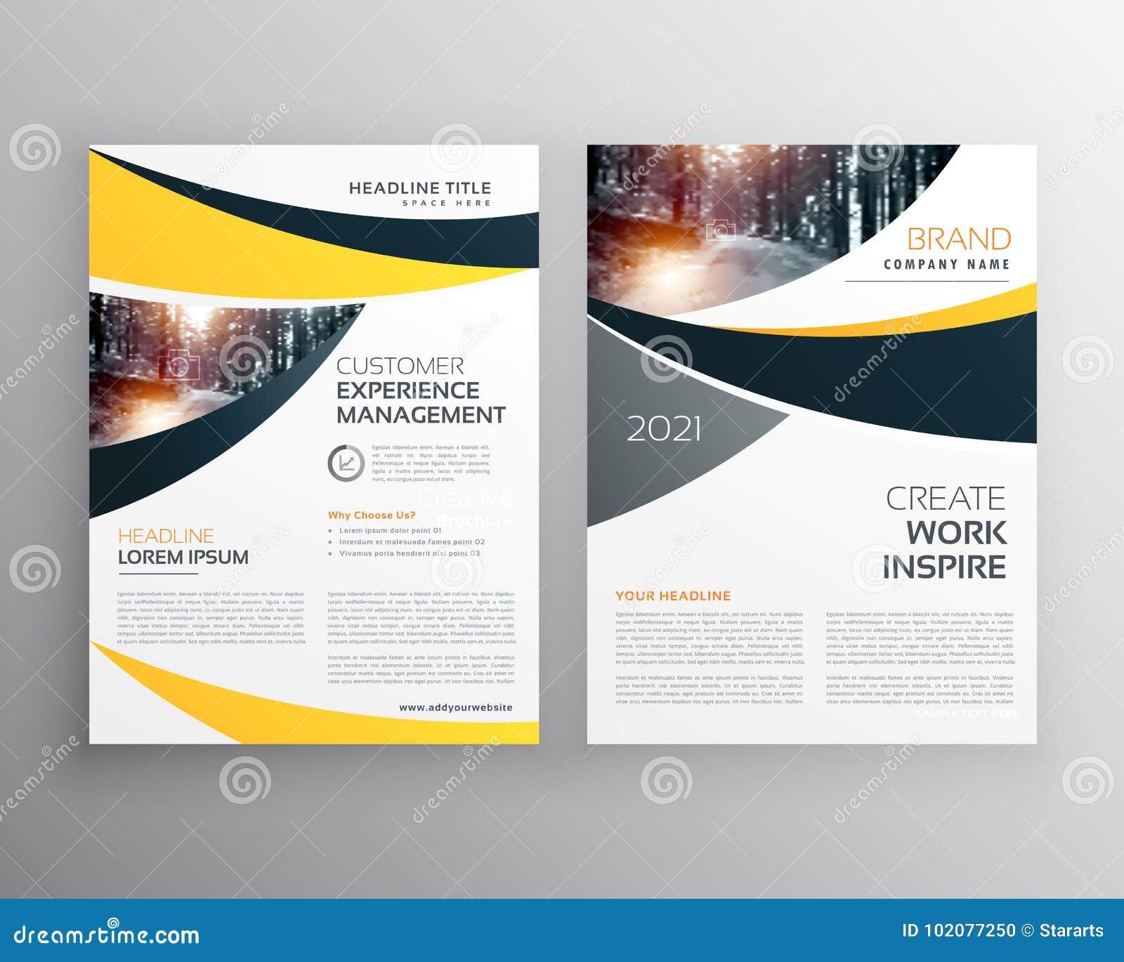 Calibre de brochure d affaires avec l espace pour votre texte