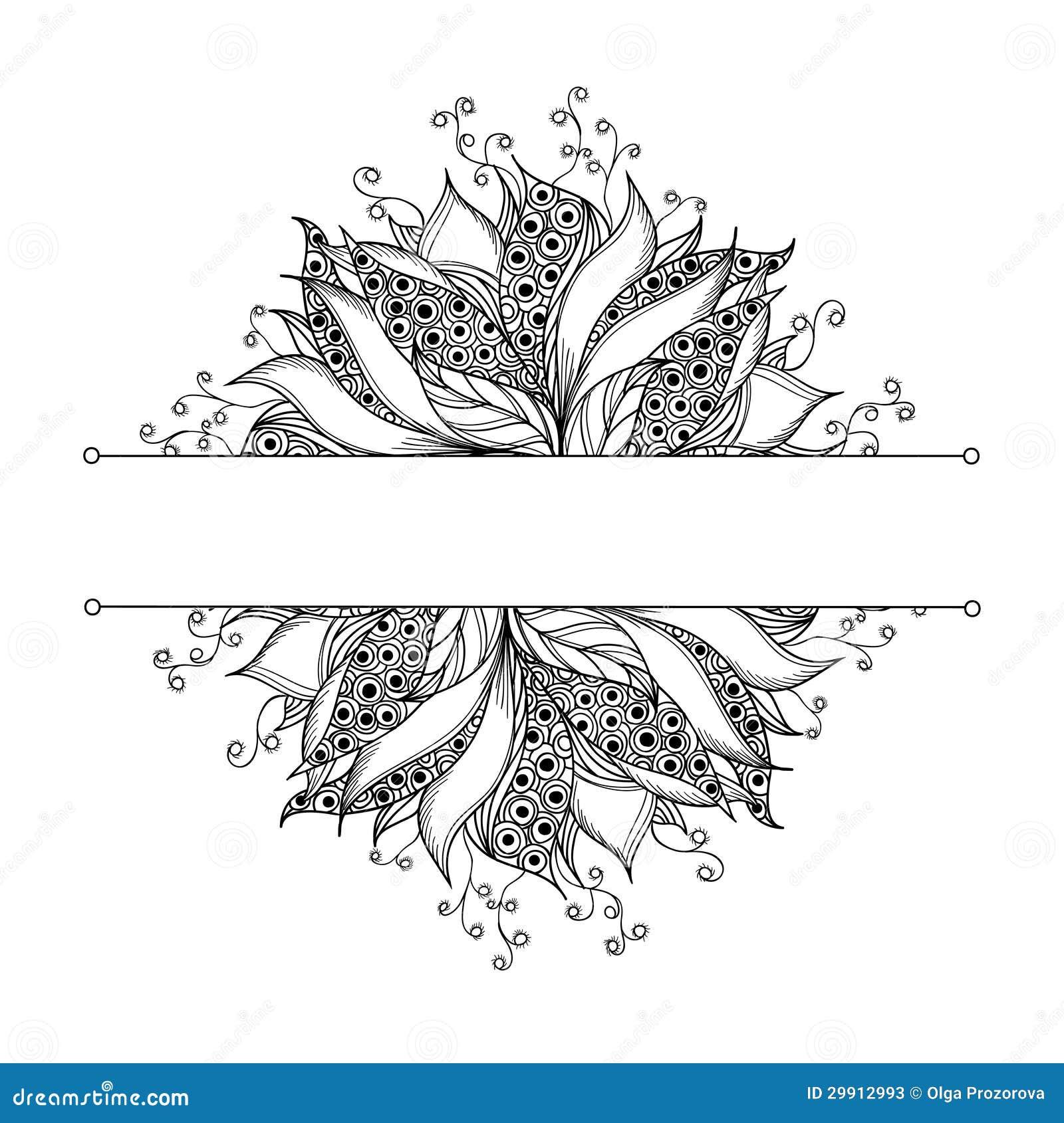 Calibre De Carte Avec La Fleur Noire Et Blanche D