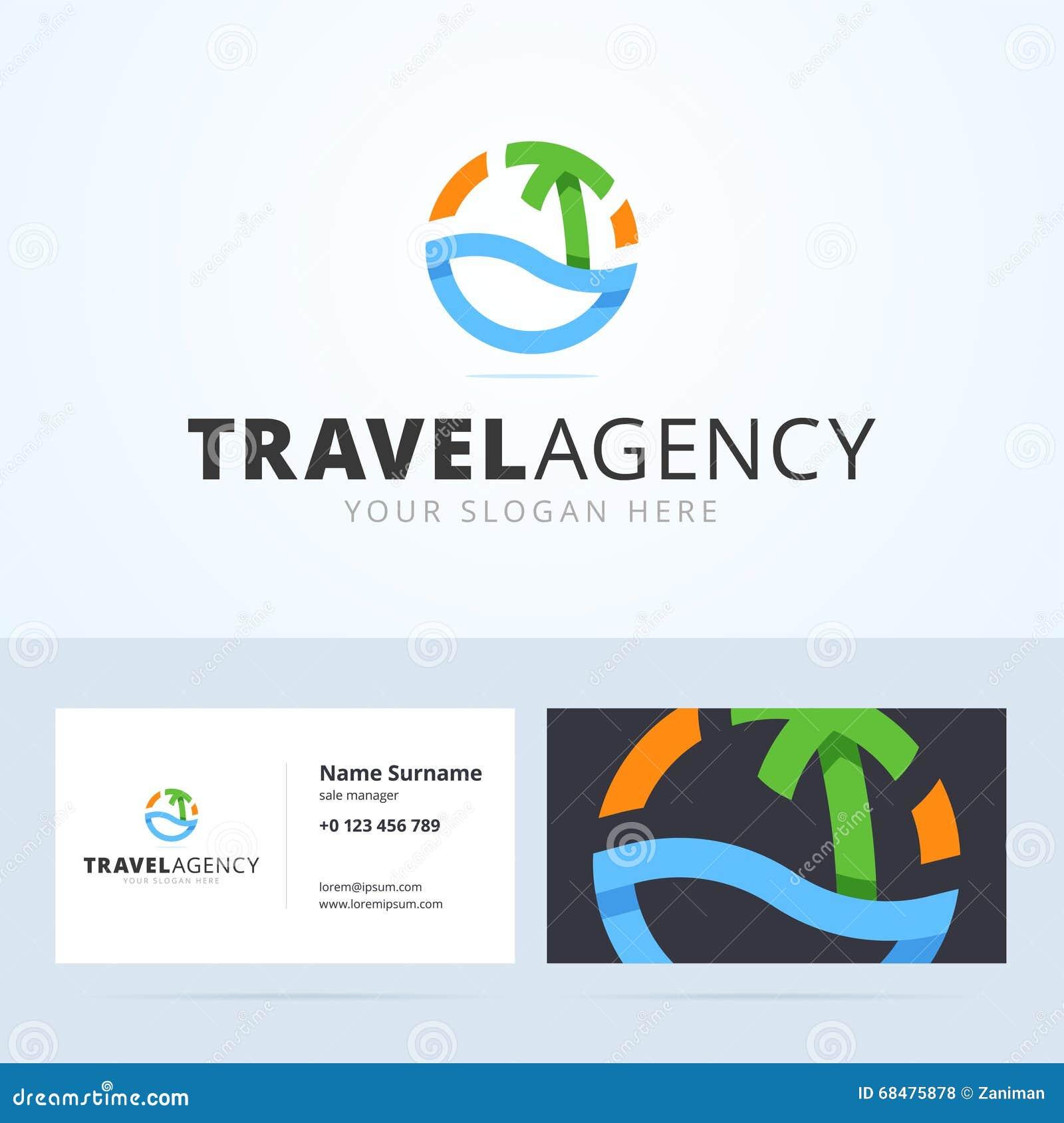 Calibre De Carte Visite Professionnelle Logo Et Pour L Agence Voyages