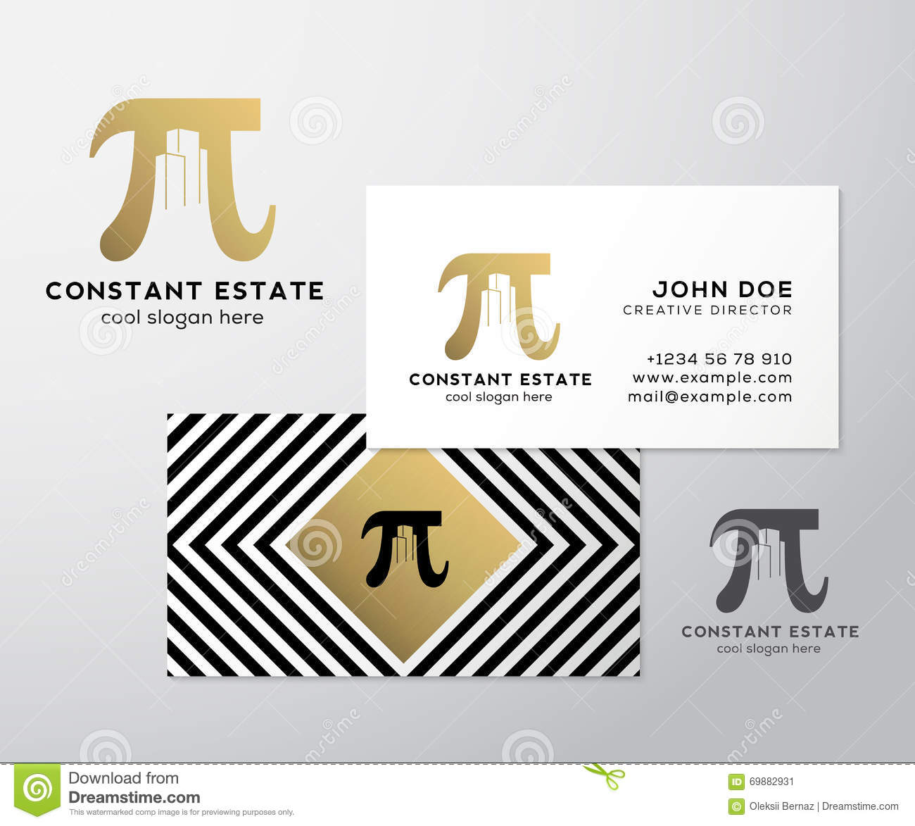 Calibre De Carte Visite Professionnelle Constant Estate Abstract Vector Premium Signe