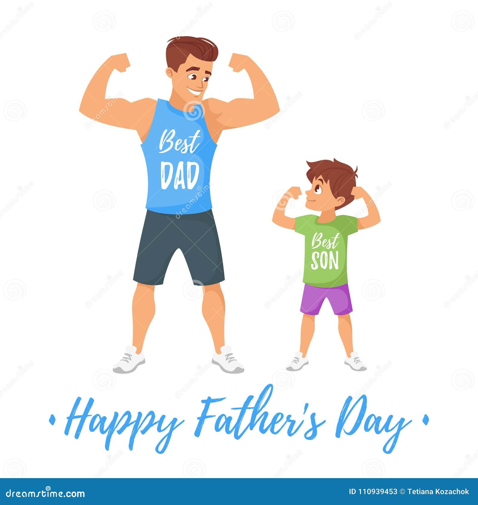 Calibre de carte de voeux de jour de pères
