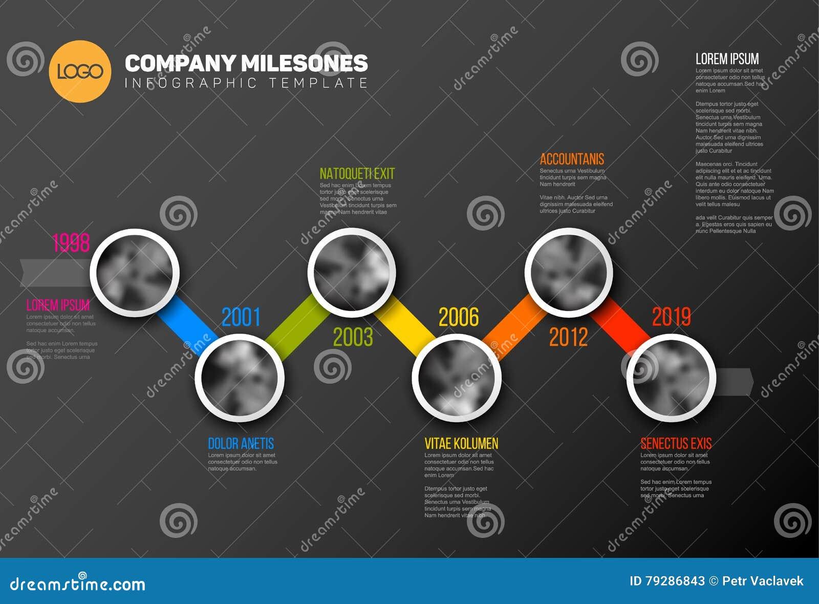 Calibre de chronologie d Infographic avec des photos