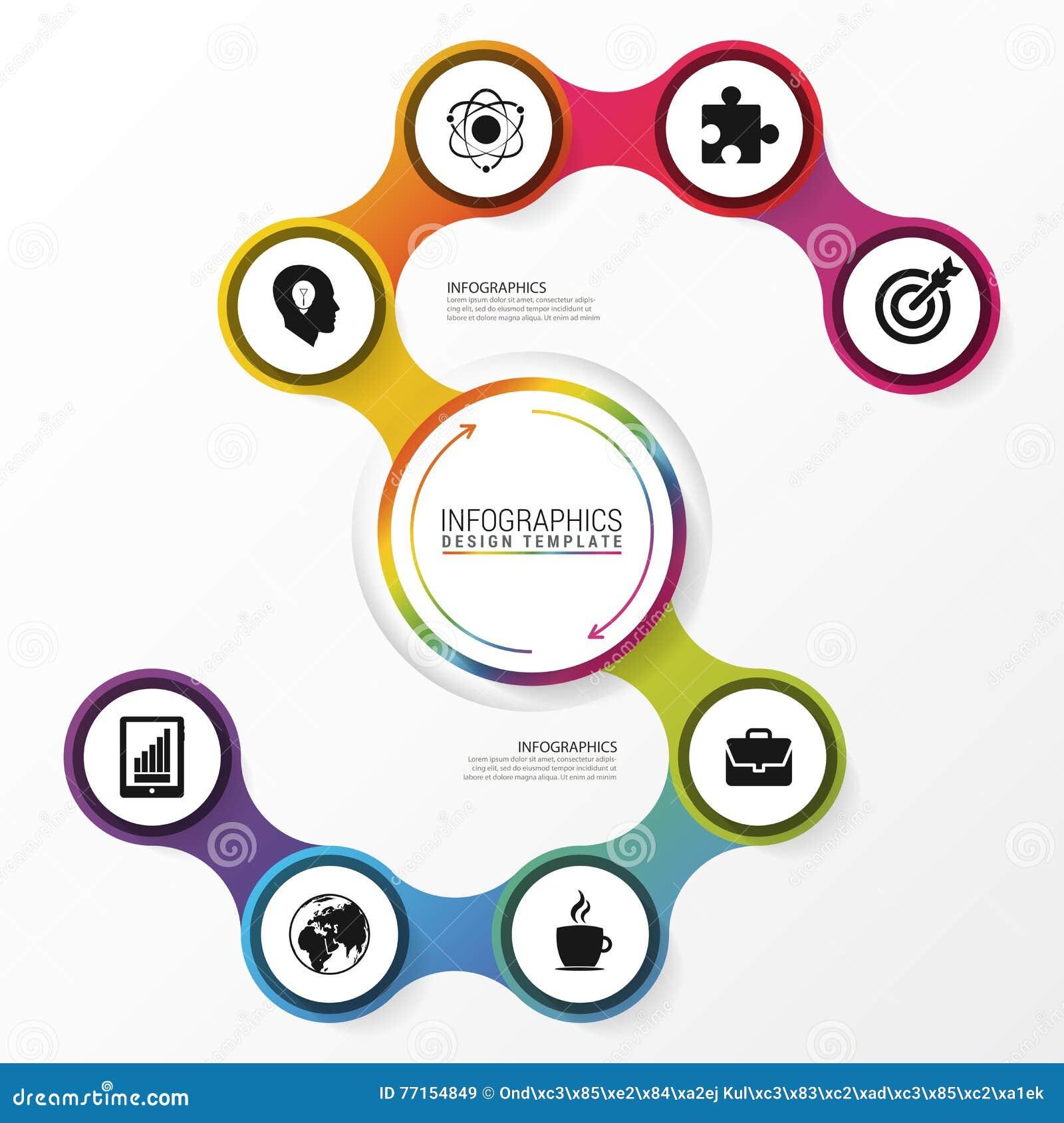 Calibre de conception d Infographic Concept abstrait d affaires Vecteur