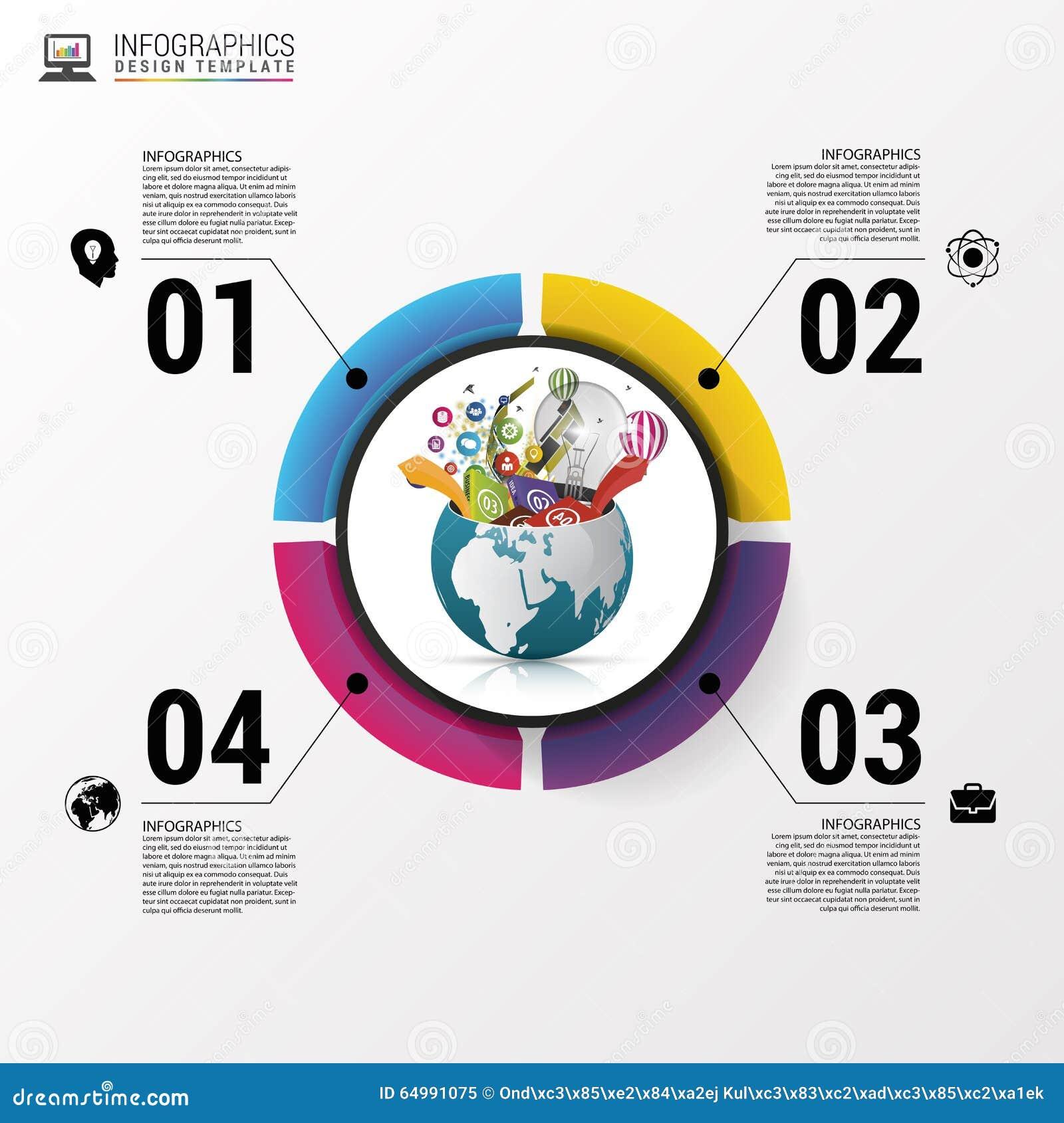 Calibre de conception d Infographic Monde créateur Illustration de vecteur