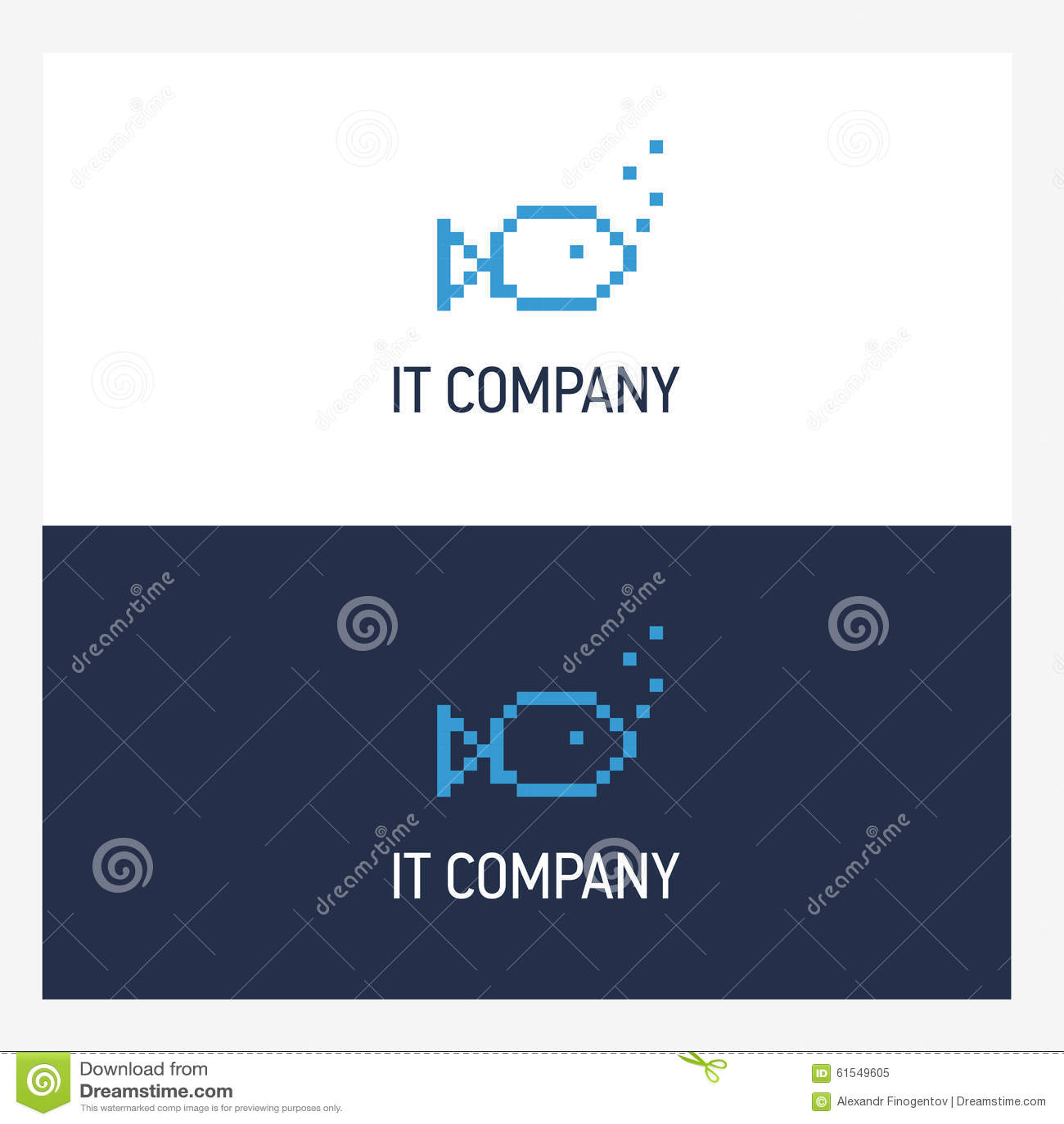 calibre de conception de logo de poissons de pixel avec le style carr concept d 39 insigne de. Black Bedroom Furniture Sets. Home Design Ideas