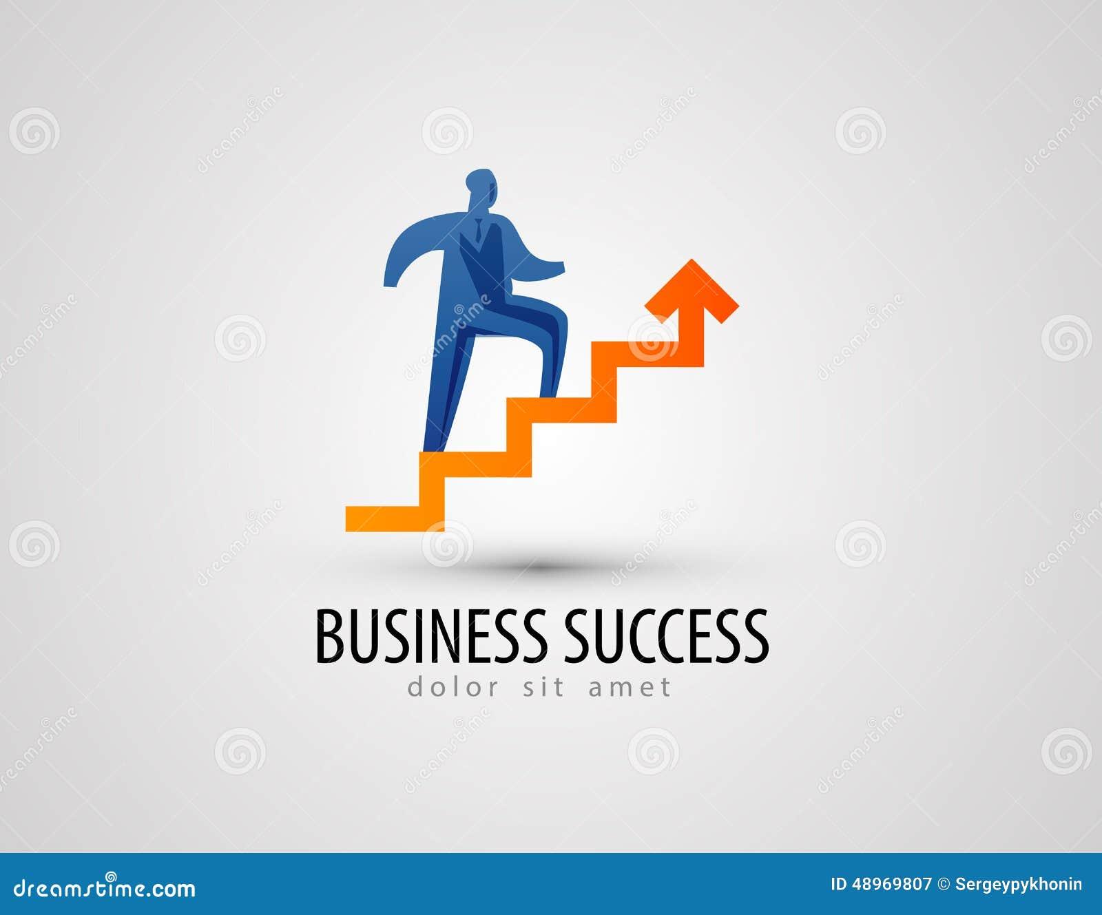 Calibre de conception de logo de vecteur d affaires succès ou