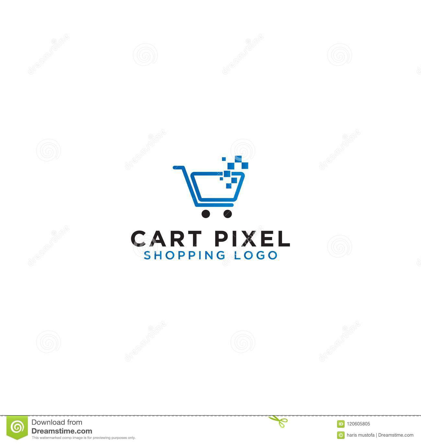 Calibre de conception de logo de caddie