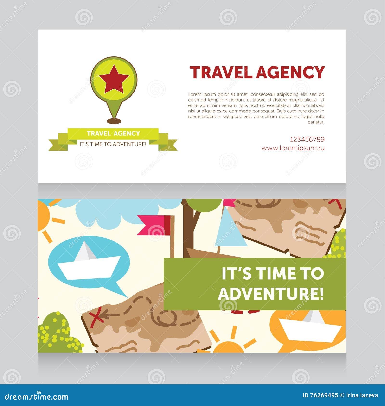 Calibre De Conception Pour La Carte Visite Professionnelle D Agence Voyages