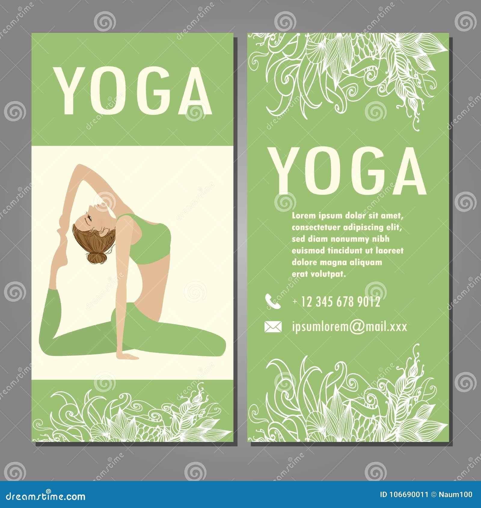 Calibre De Conception Pour La Carte Visite Professionnelle Studio Yoga