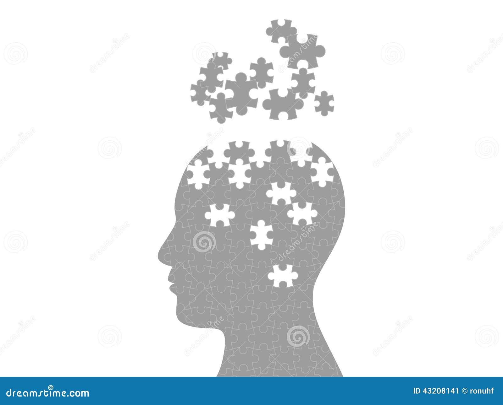Calibre de explosion principal de graphique d esprit de puzzle