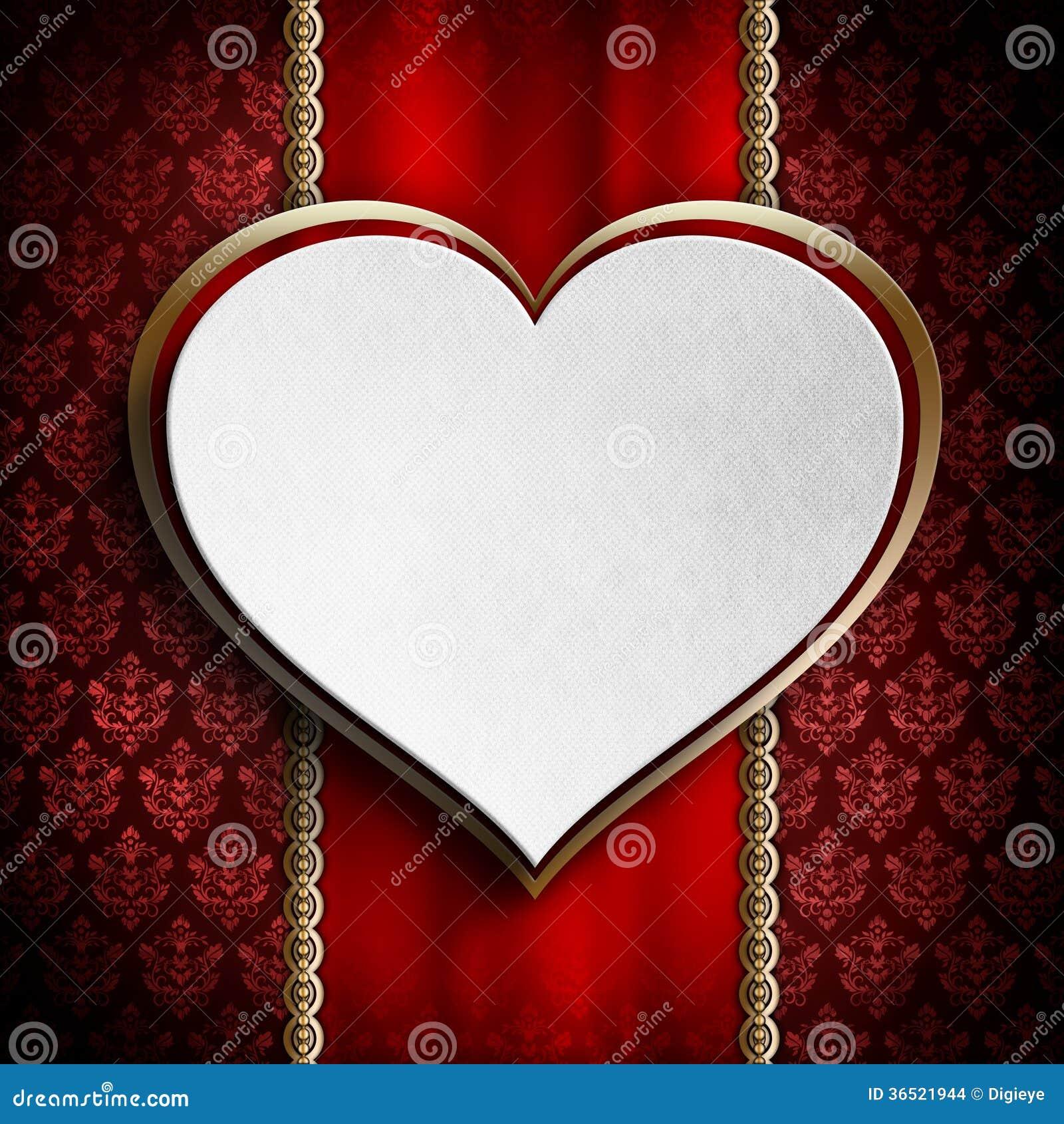 Calibre de fond de carte de Saint-Valentin