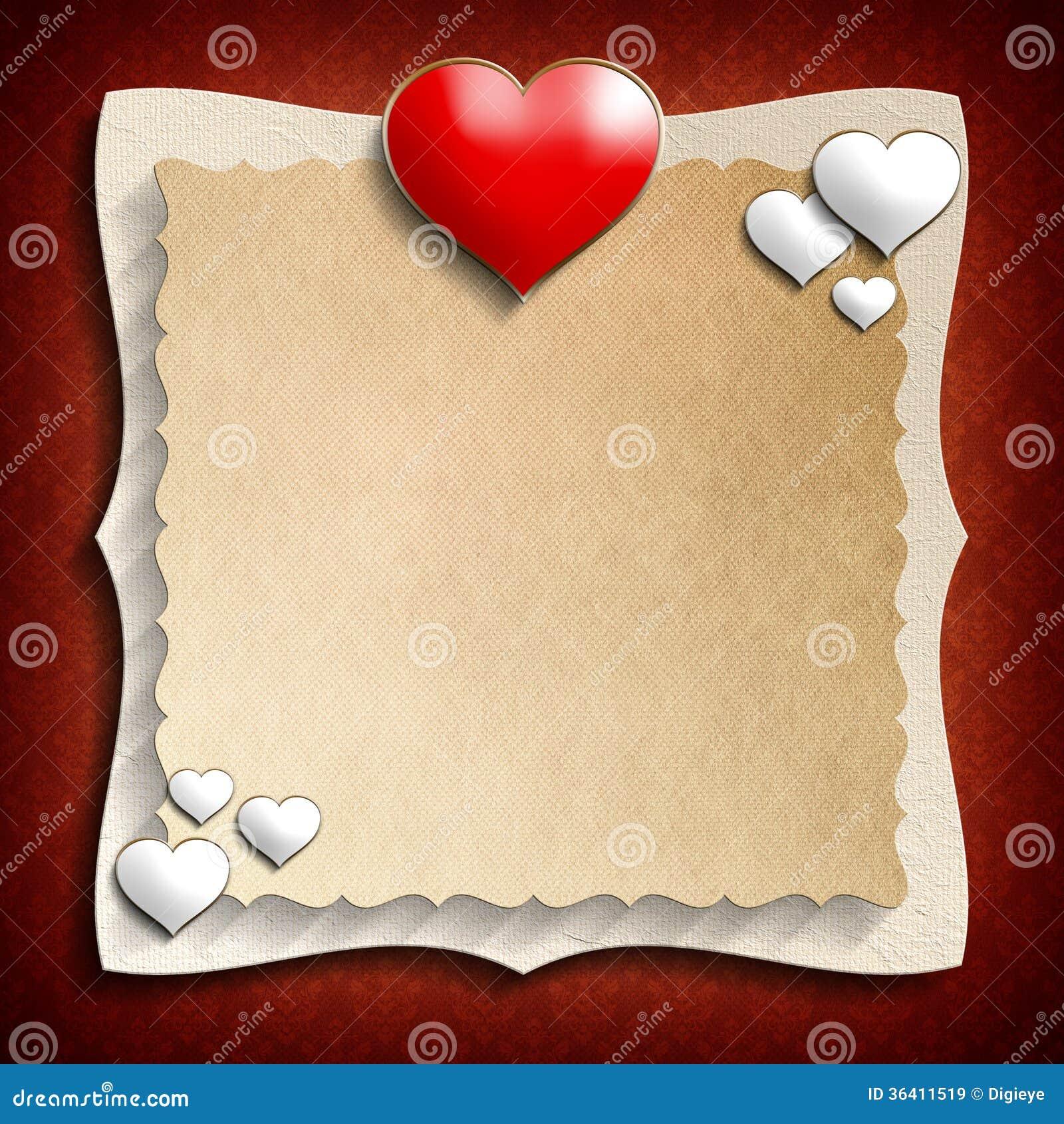 Calibre de fond de Valentine Day