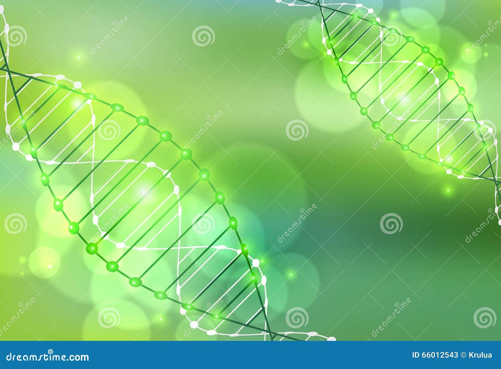 Calibre de la Science, papier peint vert ou bannière avec des molécules d une ADN