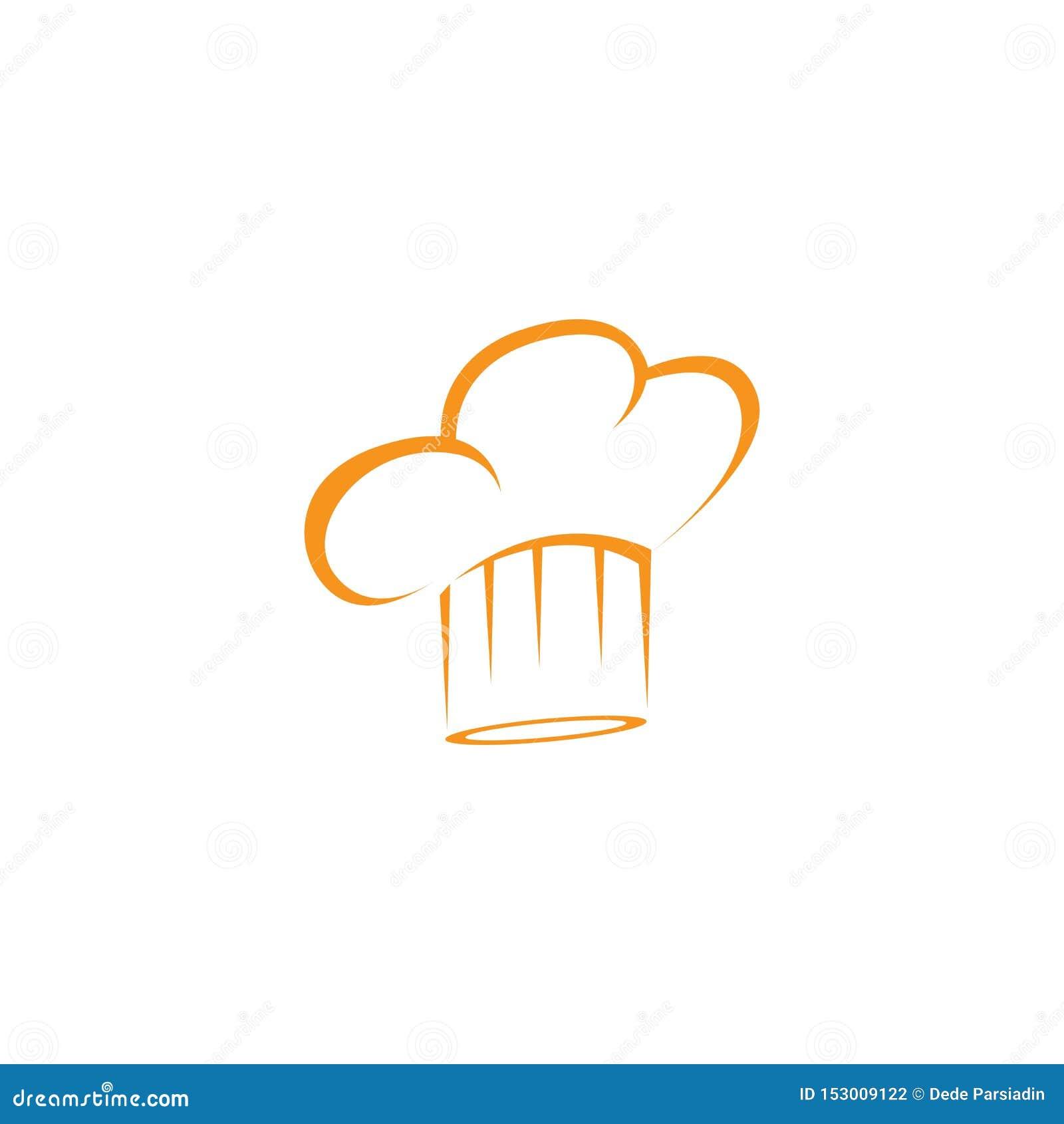 Calibre de logo de chef de chapeau