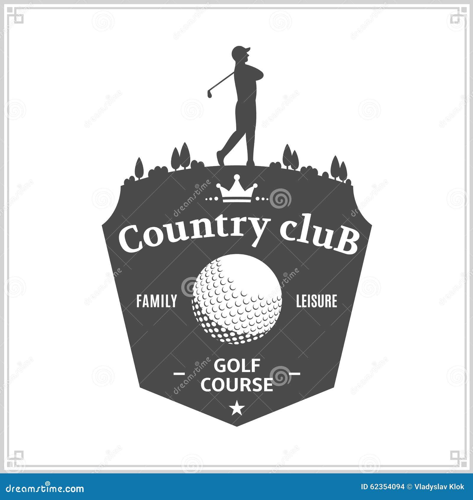 Calibre de logo de club national de golf