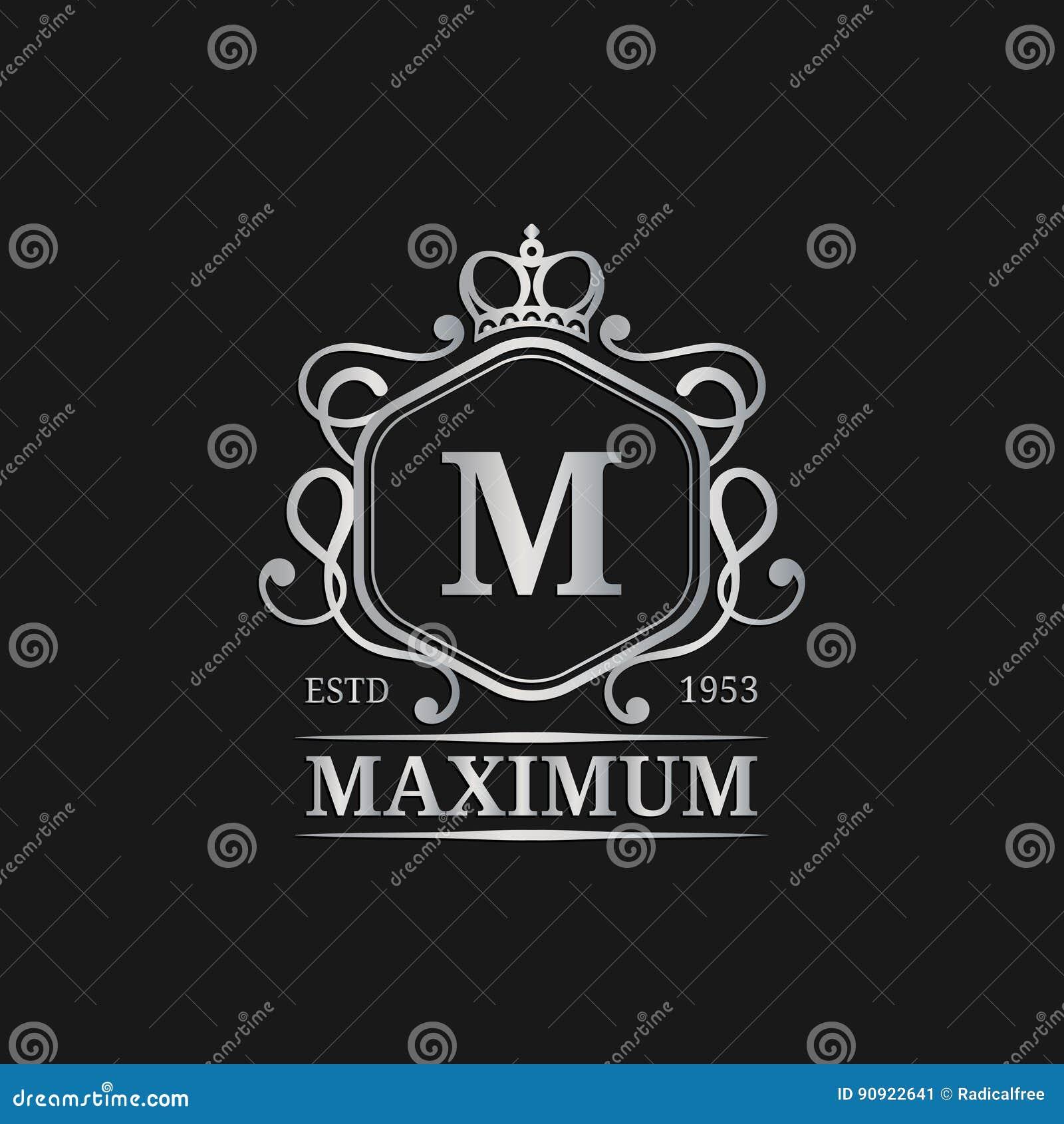 calibre de logo de monogramme de vecteur conception de lettre de luxe caract re gracieux de. Black Bedroom Furniture Sets. Home Design Ideas
