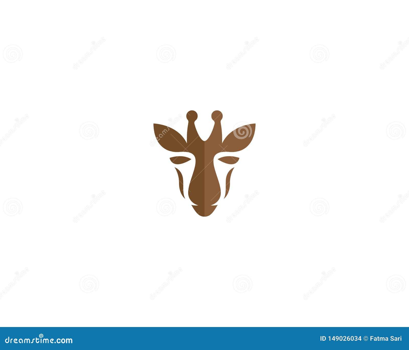 Calibre de logo de girafe