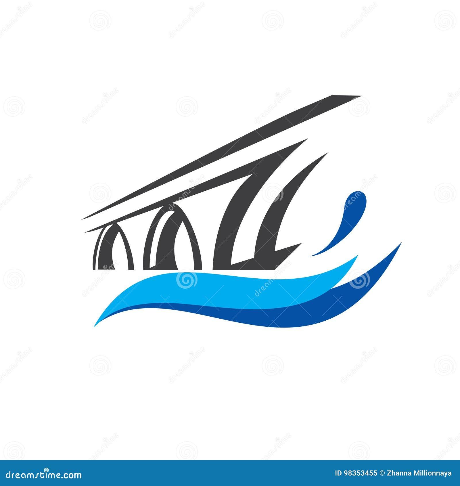Calibre de logo de symbole de pont
