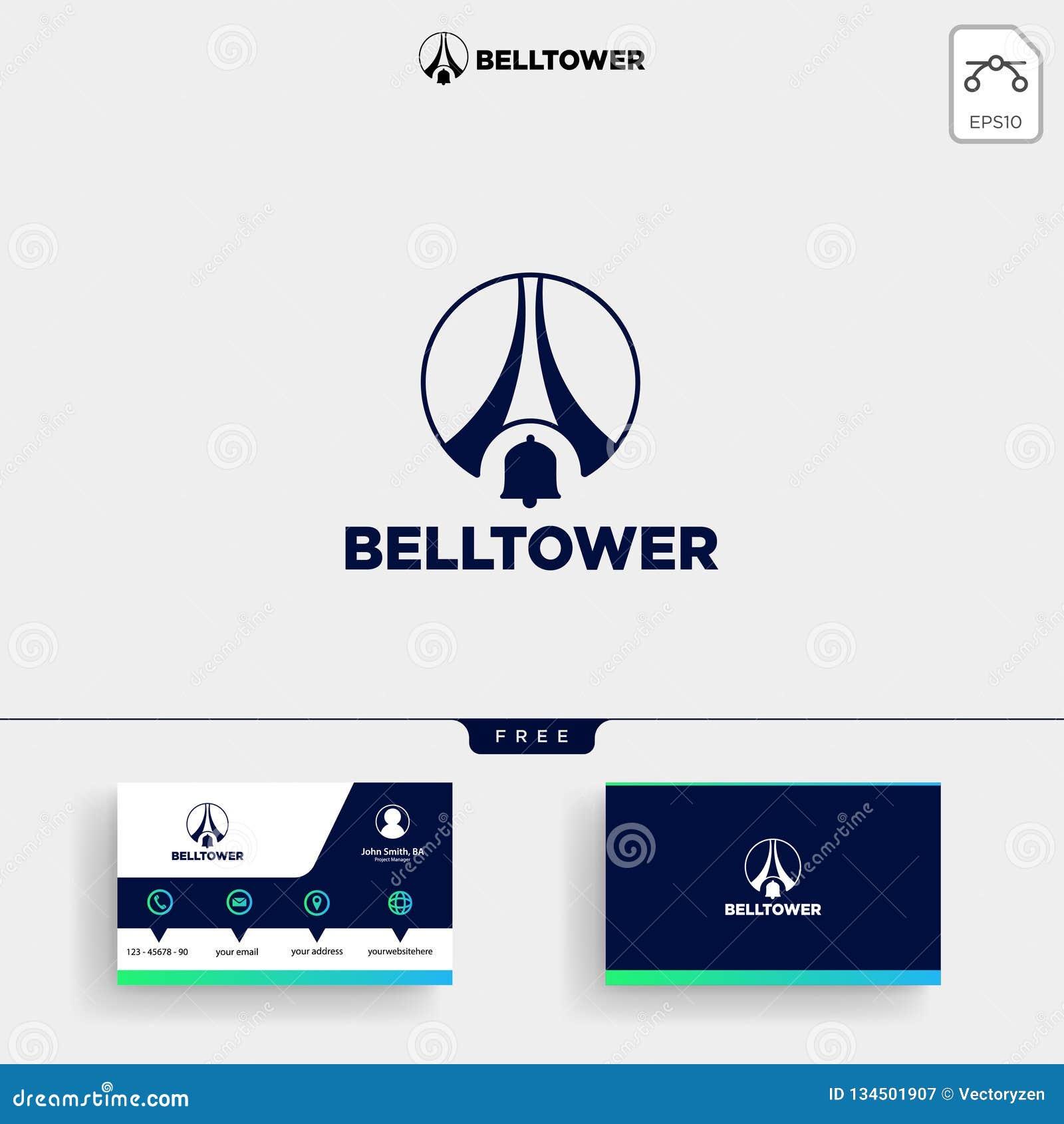 Calibre De Logo Tour D Avis Bell Et Carte Visite Professionnelle