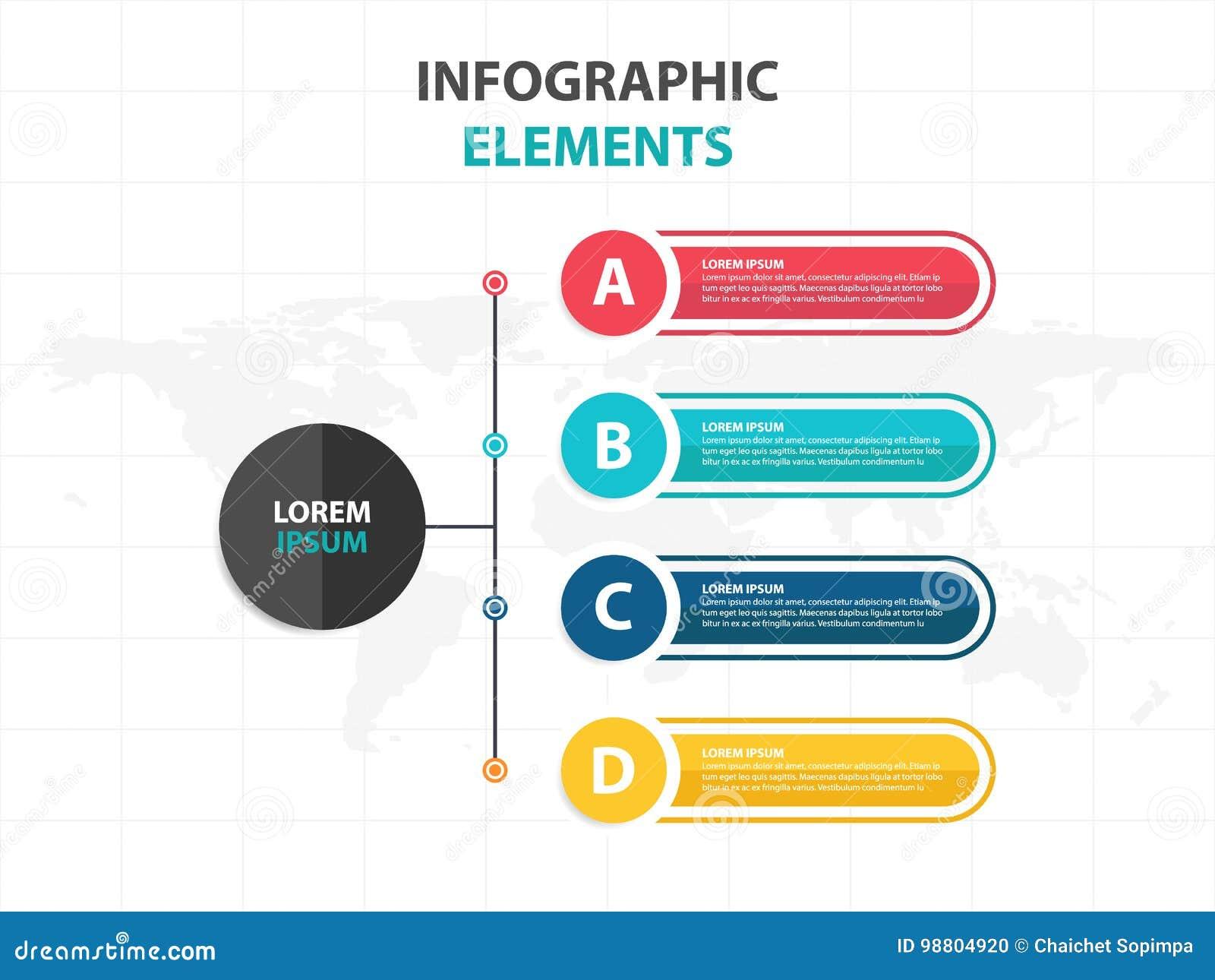 Calibre de processus de chronologie d Infographic d affaires, desgin coloré de zone de texte de bannière pour la présentation, pr