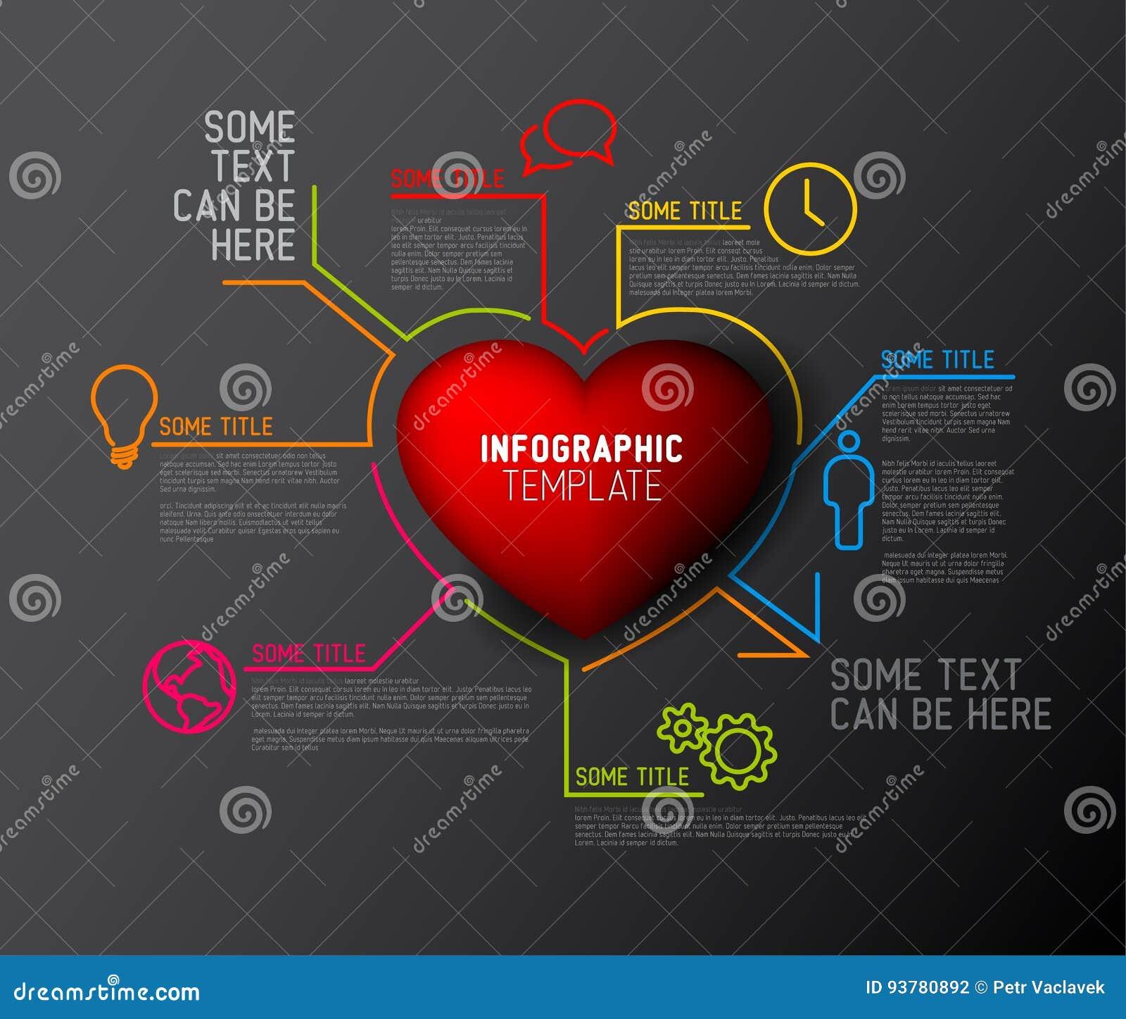 Calibre de rapport d Infographic de coeur de vecteur