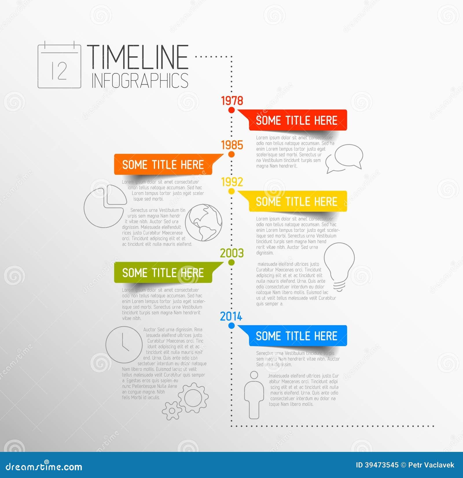 Calibre de rapport de chronologie d Infographic
