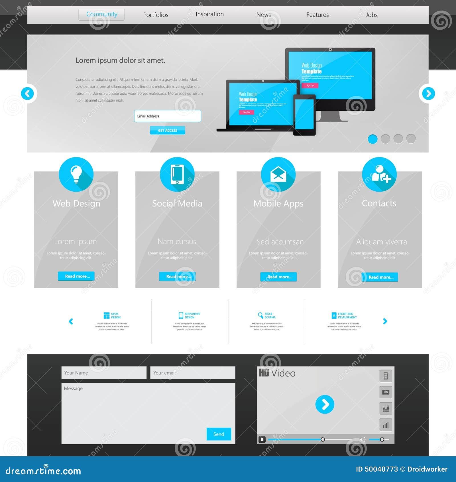 Calibre De Site Web D 39 Affaires Conception De Page D: modern house website