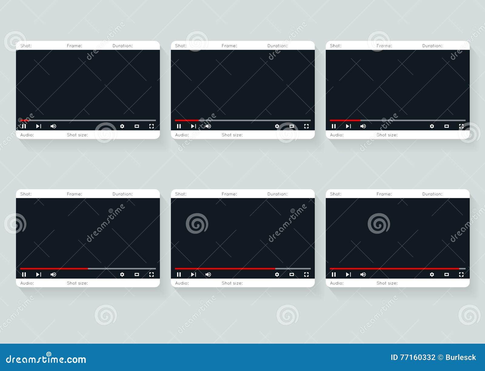 Calibre de story-board de film Conception 9 de la vidéo 16