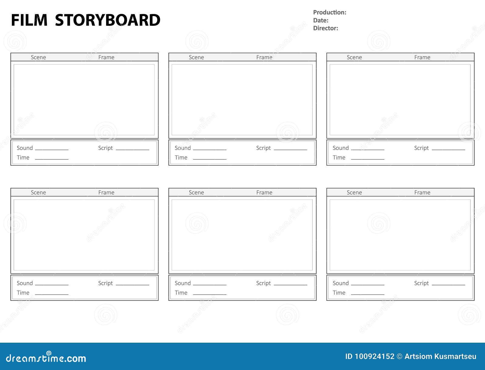 film storyboard template word - calibre de story board pour l 39 histoire de film
