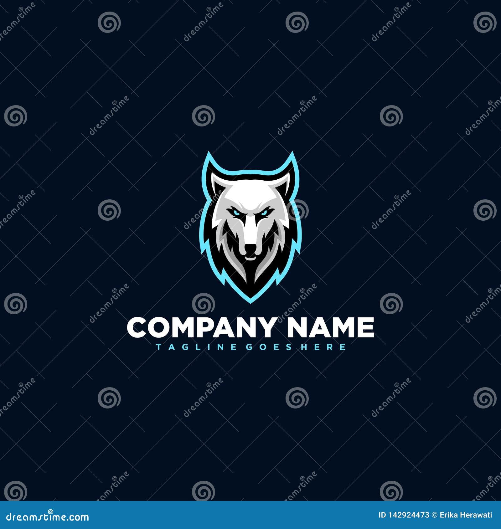 Calibre de vecteur de conception d illustration de loup