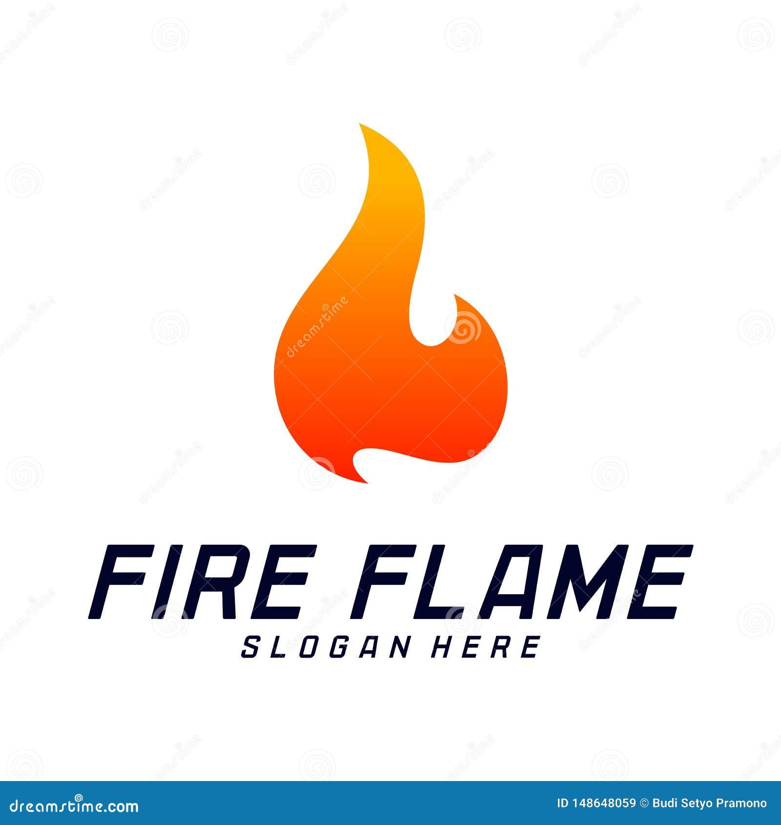 Calibre de vecteur de conception de logo de flamme du feu Symbole d ic?ne