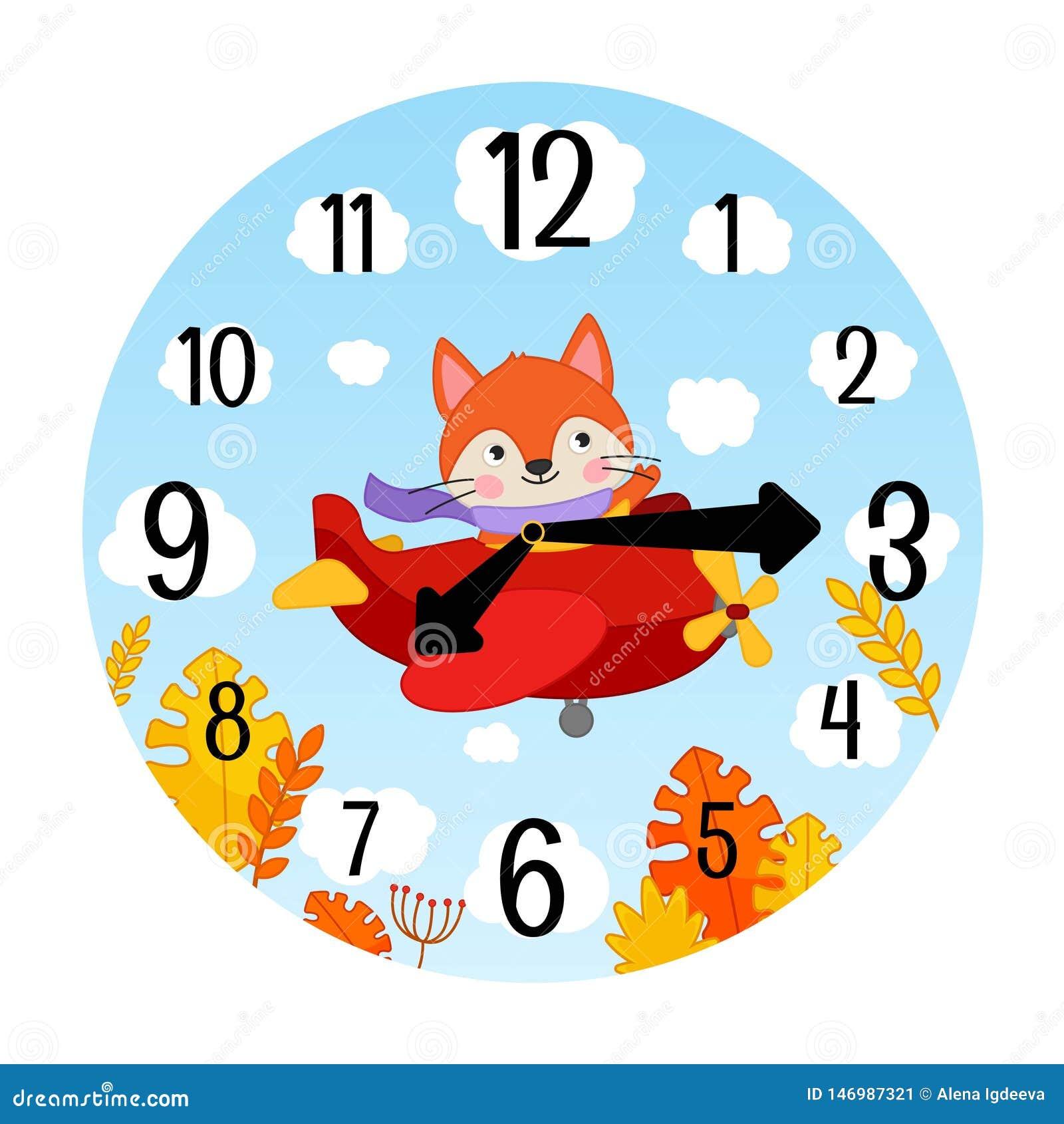 Calibre de vecteur des montres des enfants