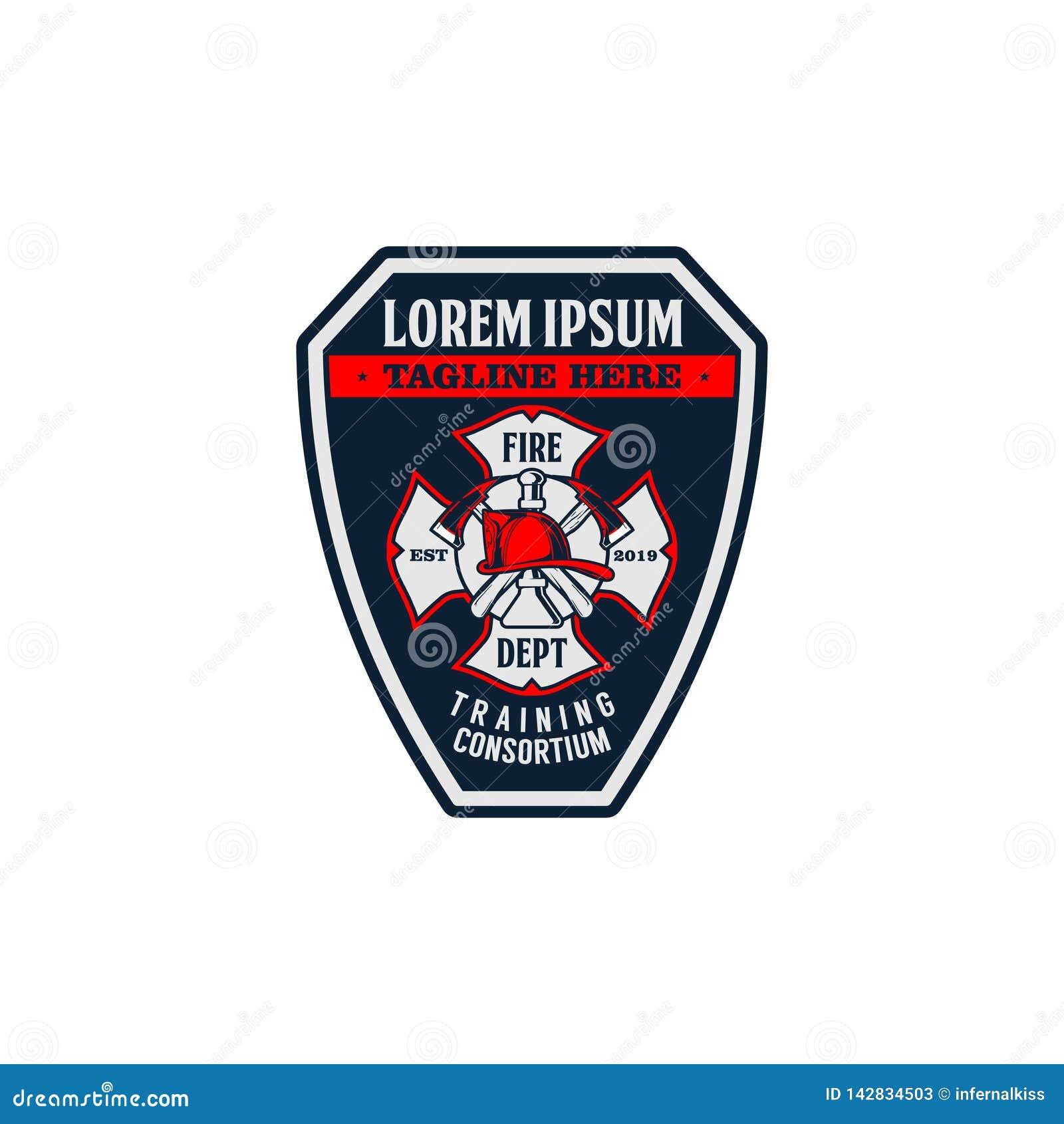 Calibre de vecteur de logo d insigne de sapeur-pompier