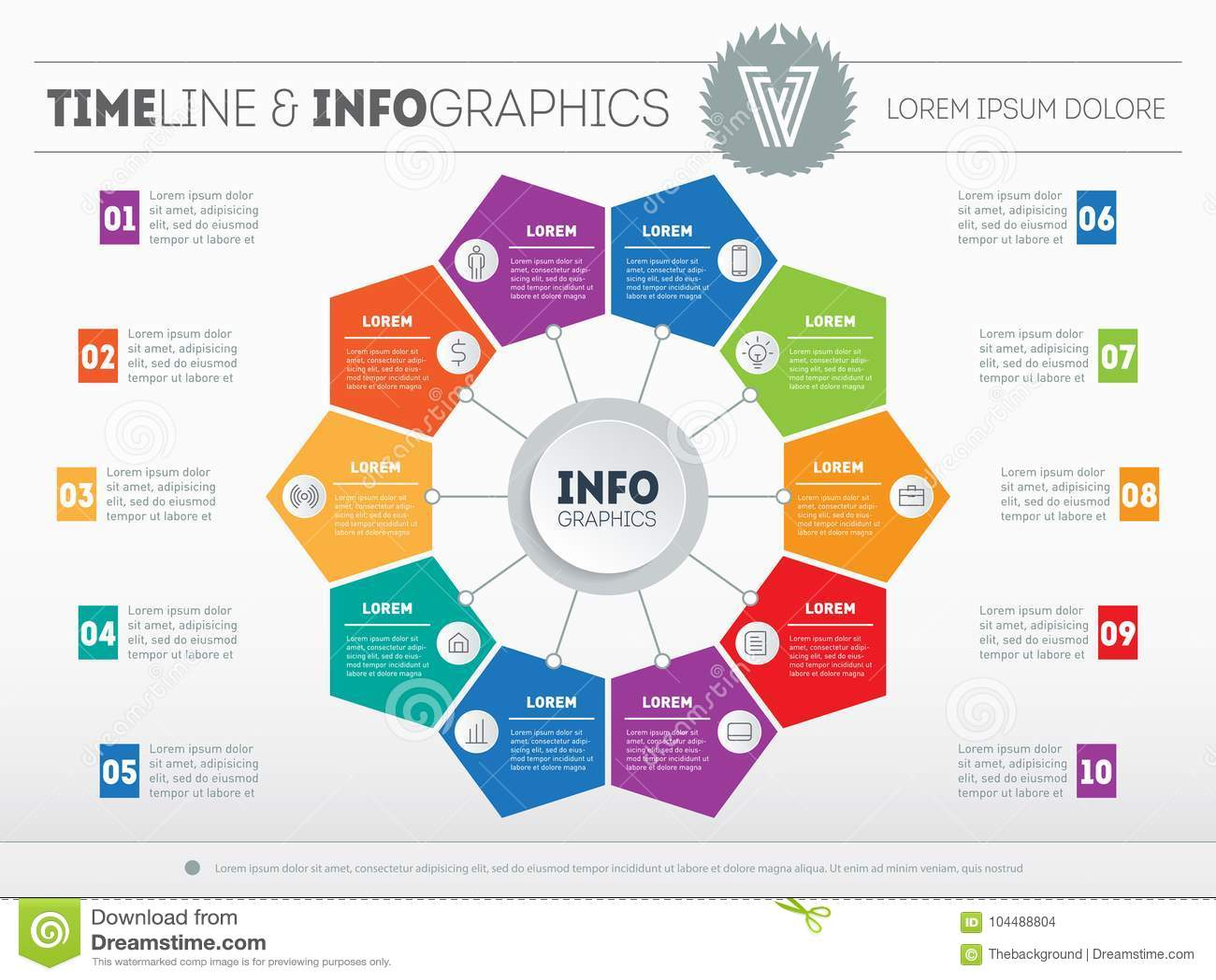 Calibre de Web pour le diagramme ou la présentation de cercle Infogr d affaires