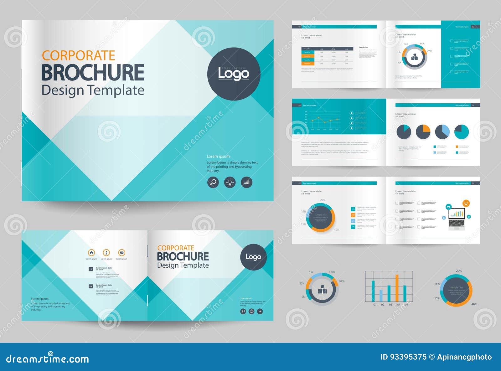 Calibre et mise en page de conception de brochure d affaires pour le profil d entreprise