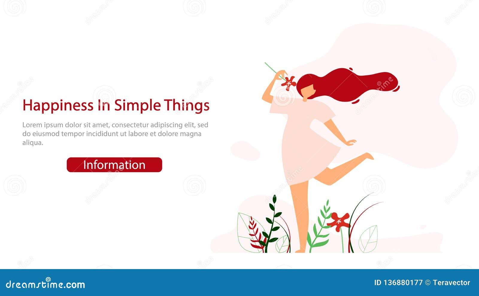 Calibre heureux de bannière de Web de vecteur de mode de vie de femmes