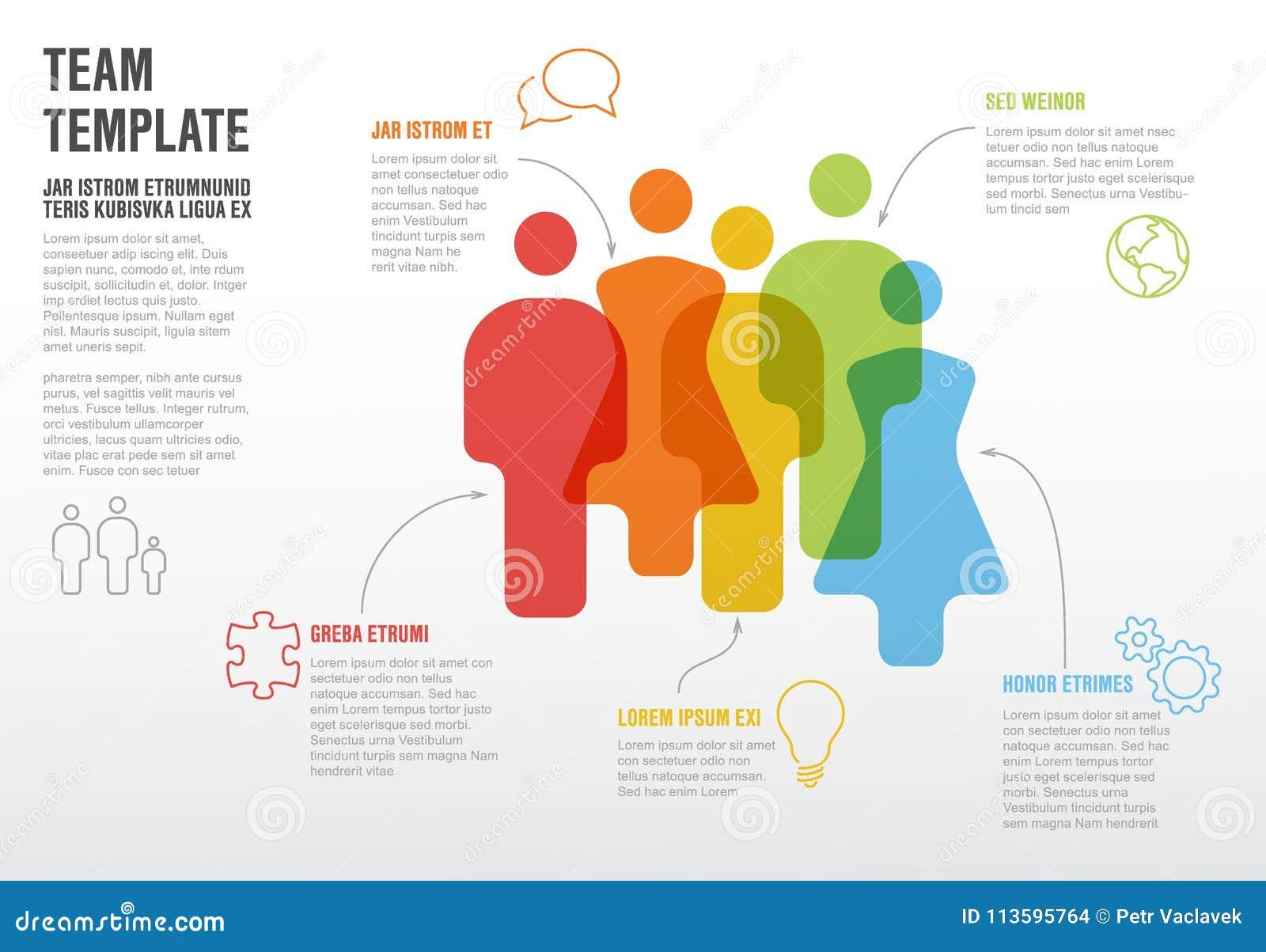 Calibre infographic d équipe de personnes