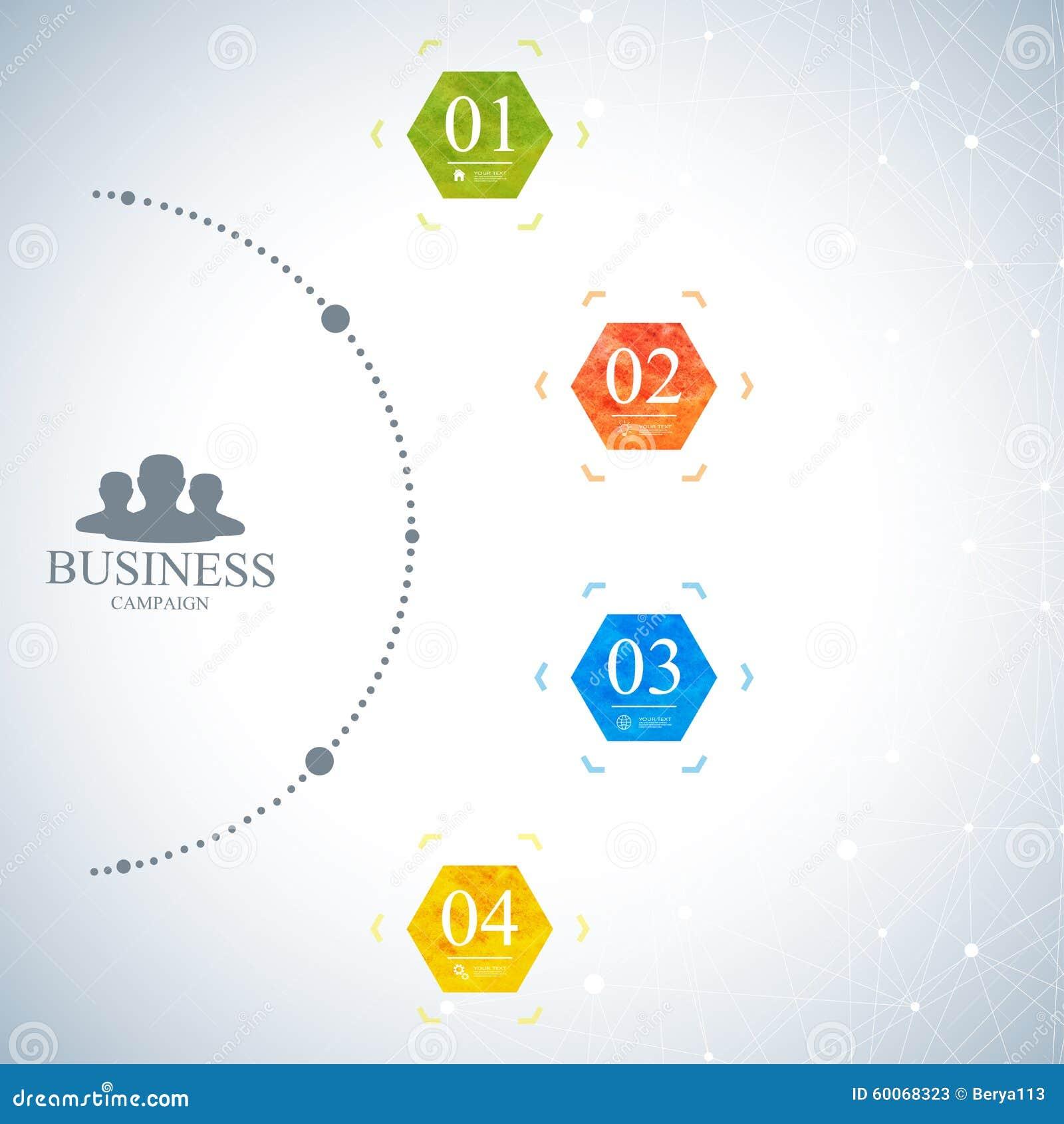 Calibre infographic moderne de réseau Concept d affaires avec 4 options Illustration de vecteur
