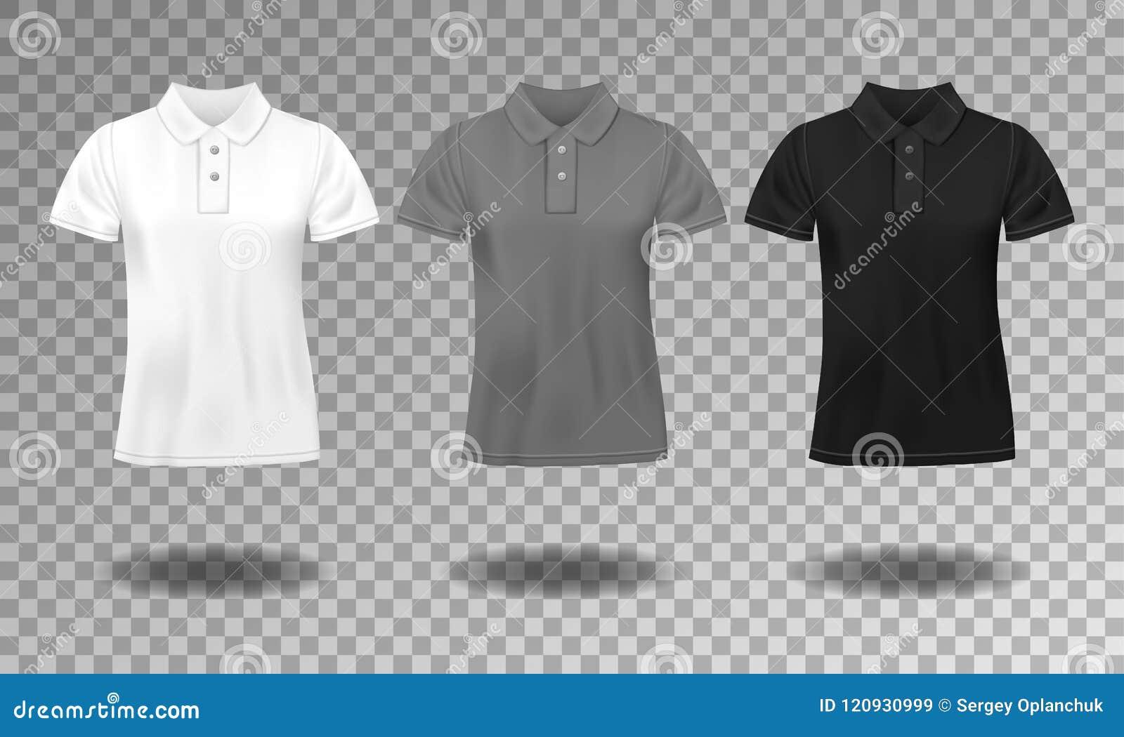 Calibre masculin mince réaliste de noir, blanc et gris de polo de T-shirt 2974753bd891